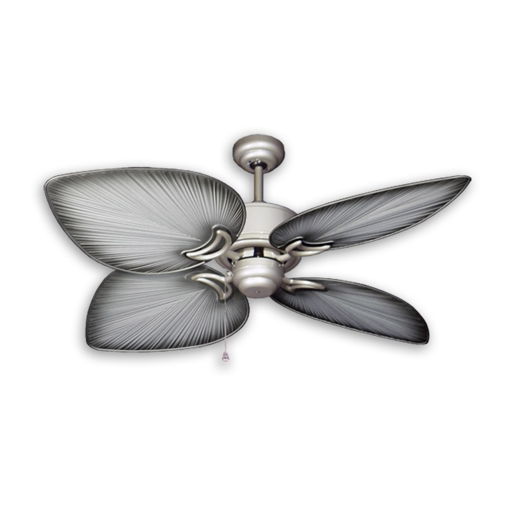 Tropical Ceiling Fans With Palm Leaf Blades, Bamboo, Rattan And More Within Famous Leaf Blades Outdoor Ceiling Fans (View 13 of 20)