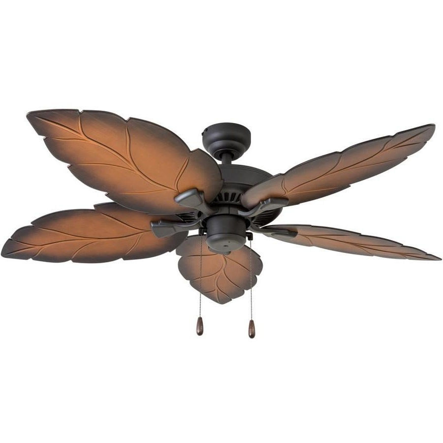 Tropical Outdoor Ceiling Fans Regarding Fashionable Shop Palm Coast Harbour Island 52 In Tropical Bronze Indoor/outdoor (View 12 of 20)