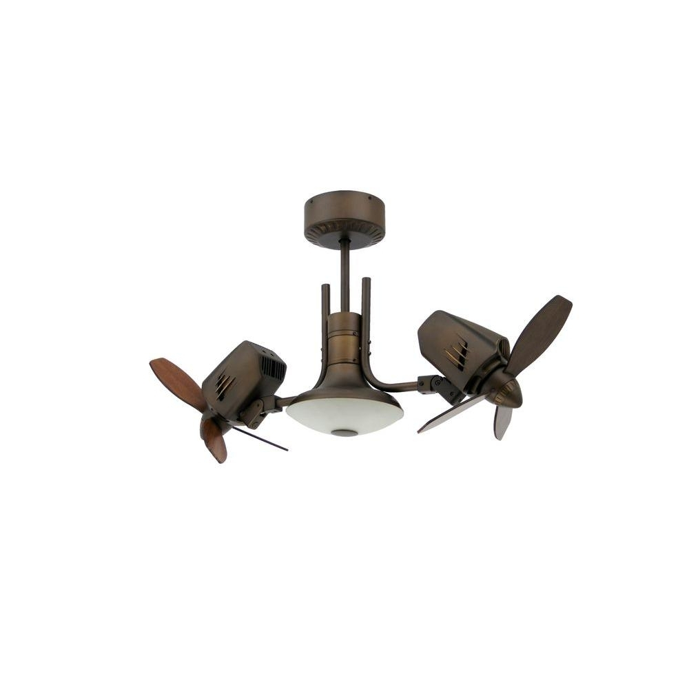 Troposair Mustang Ii 18 In. Dual Motor Oscillating Indoor/outdoor With Regard To Latest Unique Outdoor Ceiling Fans With Lights (Gallery 2 of 20)