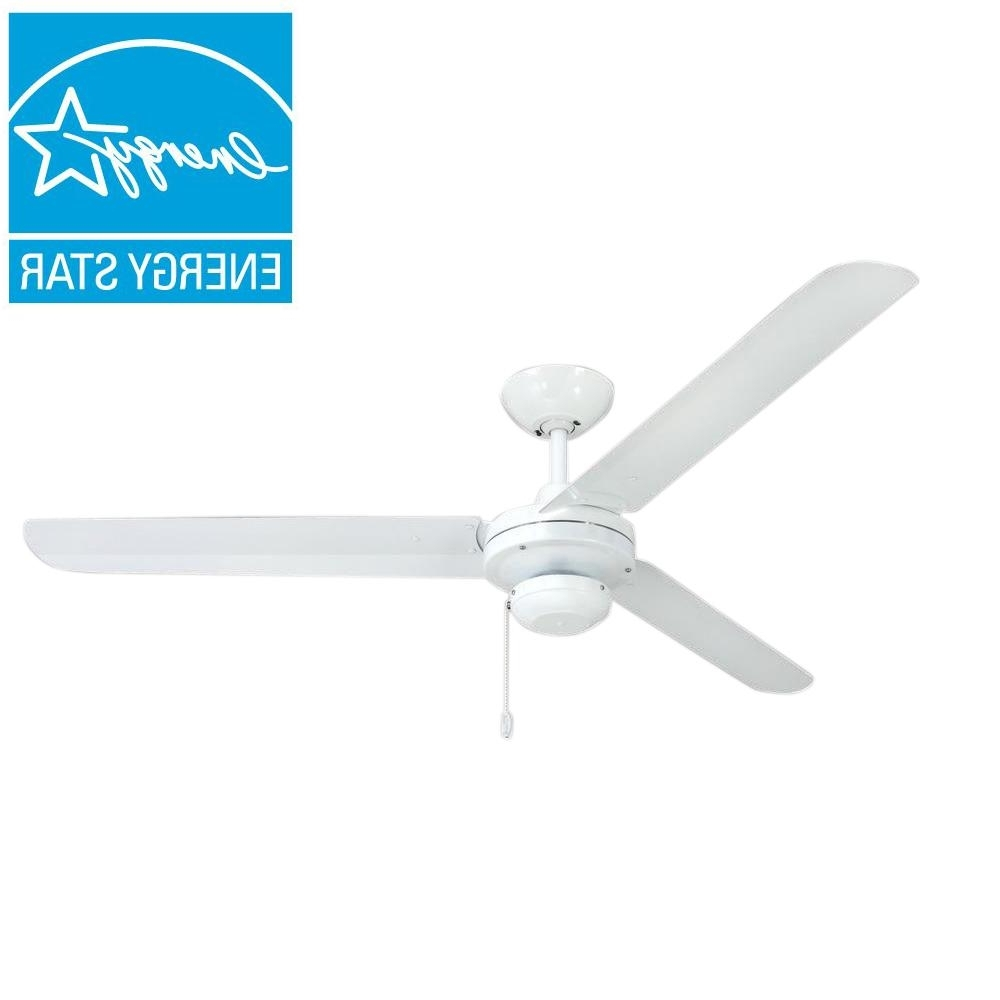 Troposair Tornado 56 In. Pure White Indoor/outdoor Ceiling Fan 88461 Intended For Most Current Outdoor Ceiling Fans With Pull Chains (Gallery 20 of 20)
