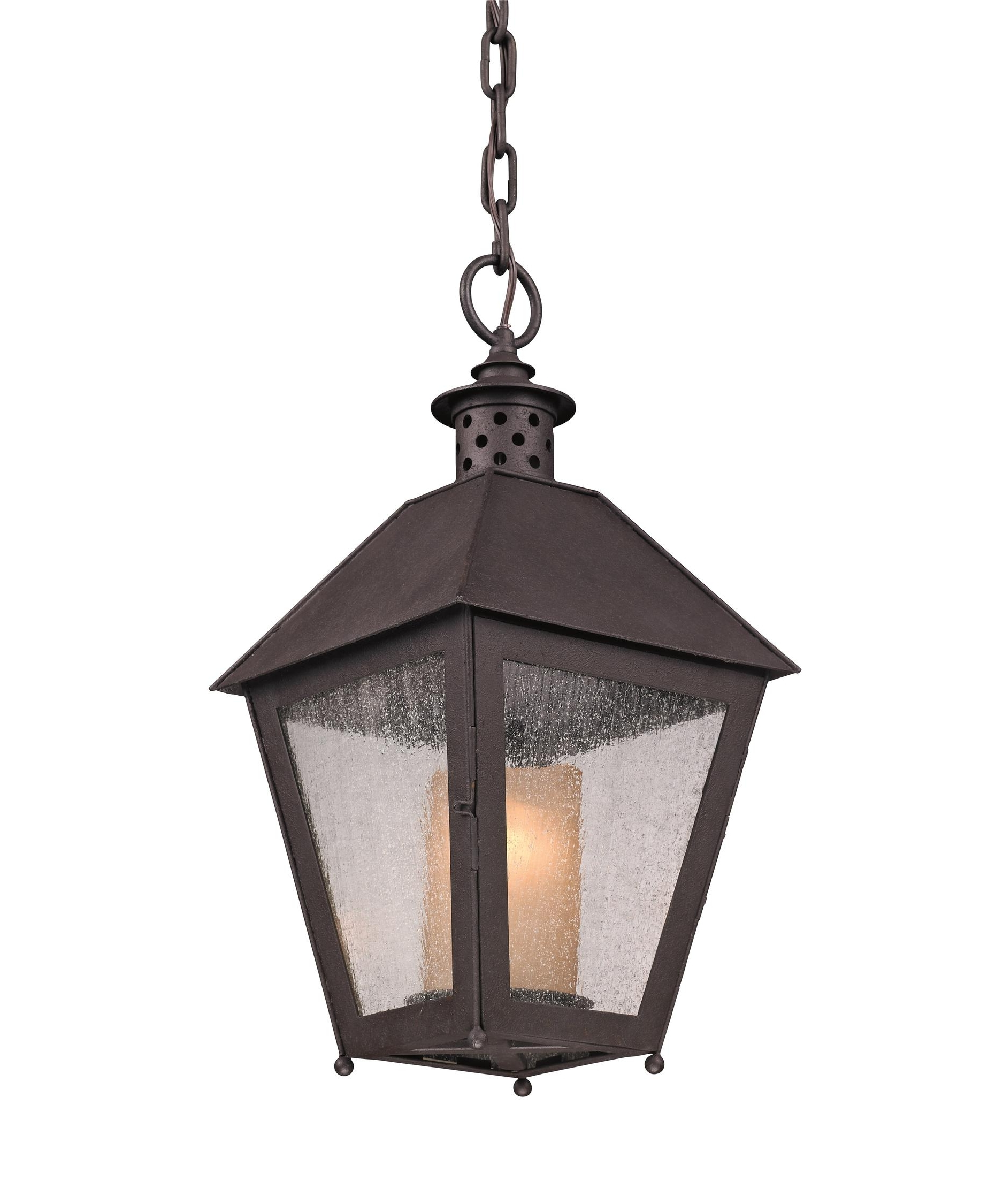 Troy Lighting F3297 Sagamore 10 Inch Wide 1 Light Outdoor Hanging Regarding Well Liked Outdoor Hanging Lanterns (View 9 of 20)