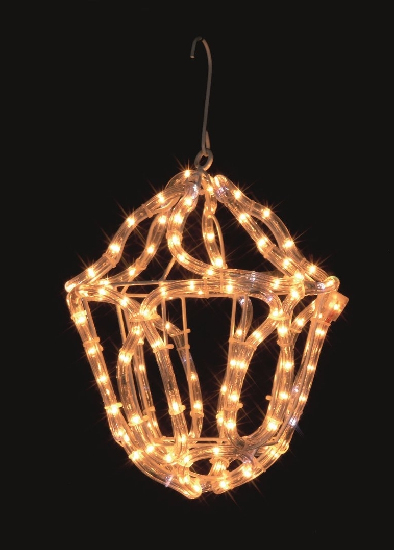 Uk Gardens Christmas Warm White Rope Light Lantern Indoor Or Outdoor With Regard To 2019 Outdoor Rope Lanterns (Gallery 15 of 20)