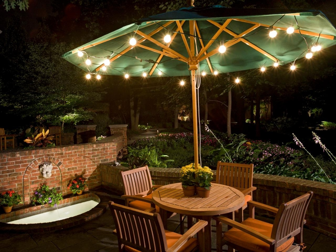 Umbrella Outdoor Landscape Lighting : Latest Trend In Outdoor With Most Popular Outdoor Umbrella Lanterns (Gallery 5 of 20)