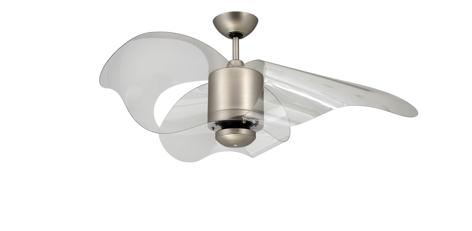 Unique Outdoor Ceiling Fans Throughout Most Up To Date Troposair The L.a. 44 In. Indoor/outdoor Satin Steel Ceiling Fan And (Gallery 9 of 20)