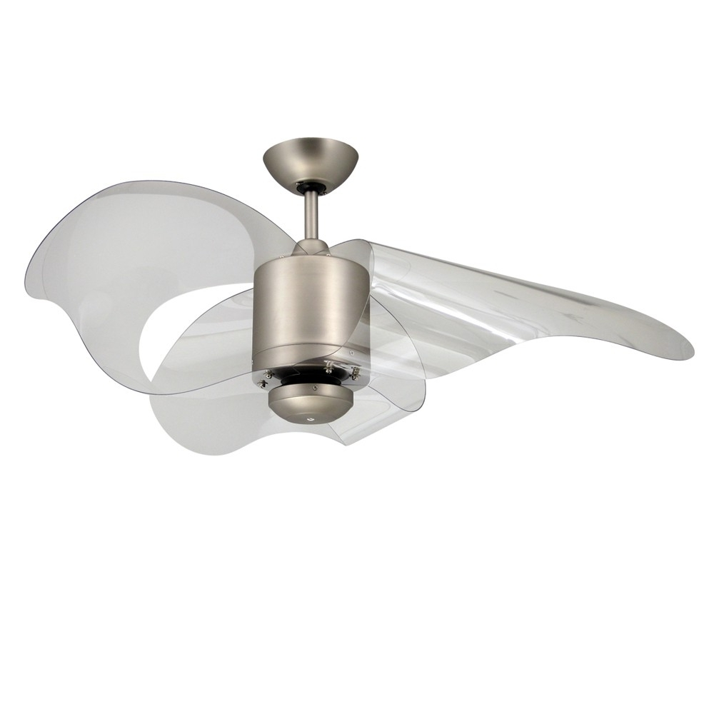 Unique Outdoor Ceiling Fans Within Fashionable Troposair La Ceiling Fan With Modern Wave Shaped Blades (Gallery 10 of 20)