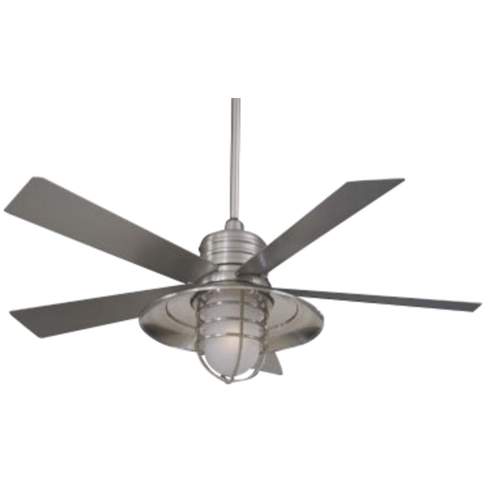 Unpara Outdoor White Ceiling Fan With Light Simple White Ceiling Fan Throughout 2018 Galvanized Outdoor Ceiling Fans With Light (View 10 of 20)