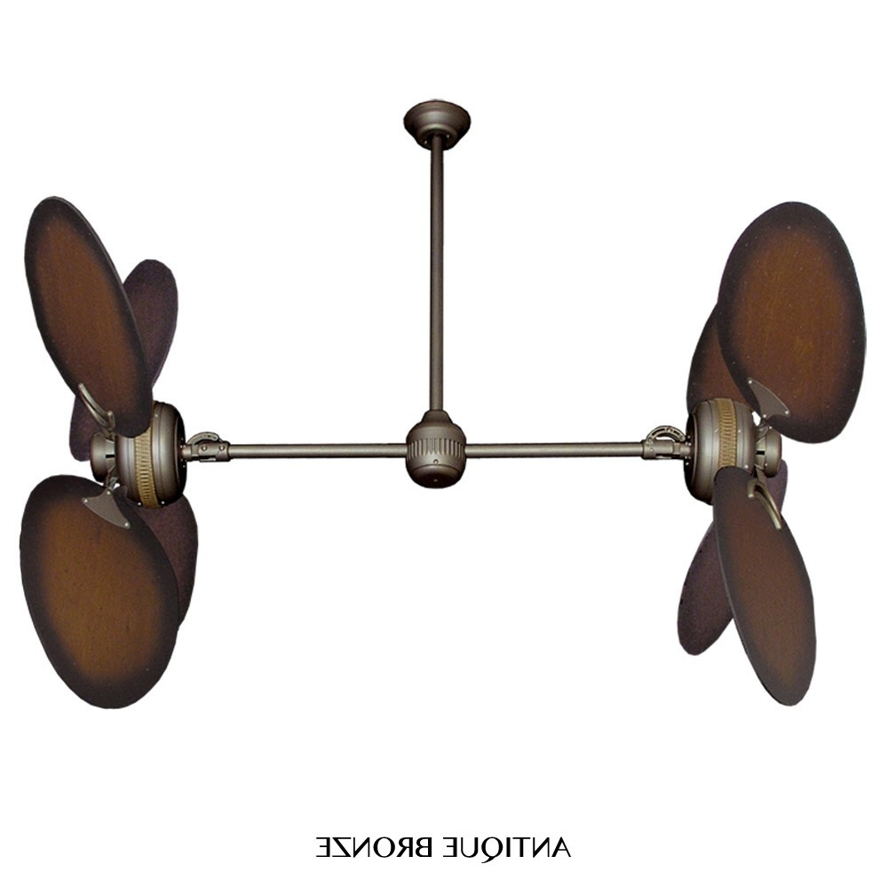Vertical Outdoor Ceiling Fans Intended For Popular Twin Star Ii Dual Motor Ceiling Fangulf Coast Fans – Distressed (View 16 of 20)