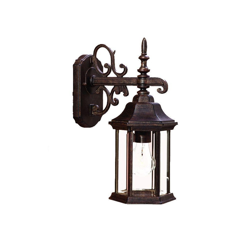 Victorian Outdoor Lanterns Pertaining To Latest Acclaim Lighting Madison Collection 1 Light Black Coral Outdoor Wall (Gallery 12 of 20)