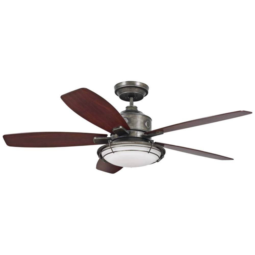 "Vintage Look Outdoor Ceiling Fans With Popular 54"" Emerson Rockpointe Vintage Steel Ceiling Fan – Style # 23m (View 9 of 20)"
