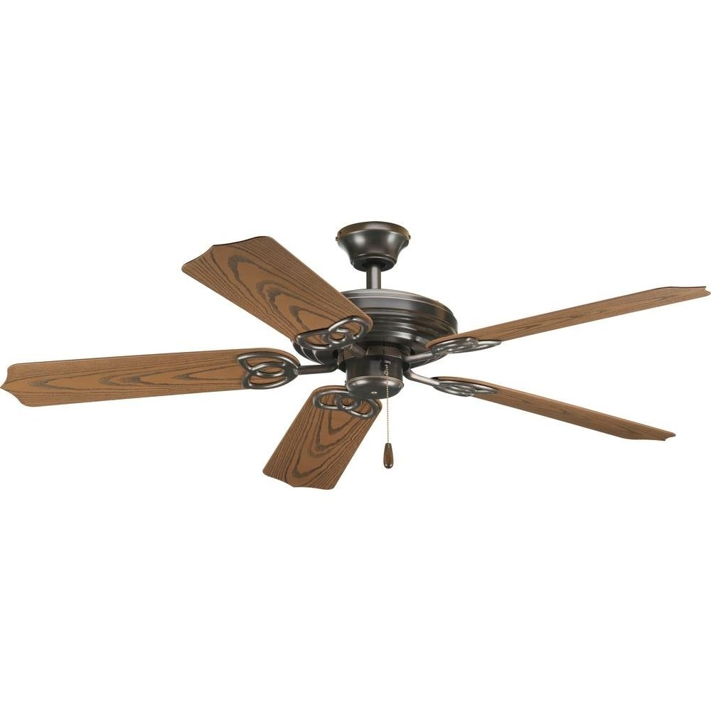 Vintage Outdoor Ceiling Fans Regarding Newest Progress Lighting Airpro 52 In. Indoor Or Outdoor Antique Bronze (Gallery 2 of 20)