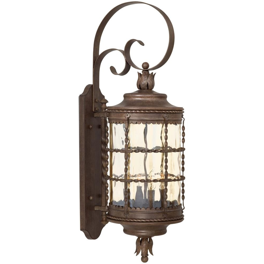 Vintage Outdoor Lanterns For Favorite The Great Outdoorsminka Lavery Mallorca 4 Light Vintage Rust (Gallery 2 of 20)