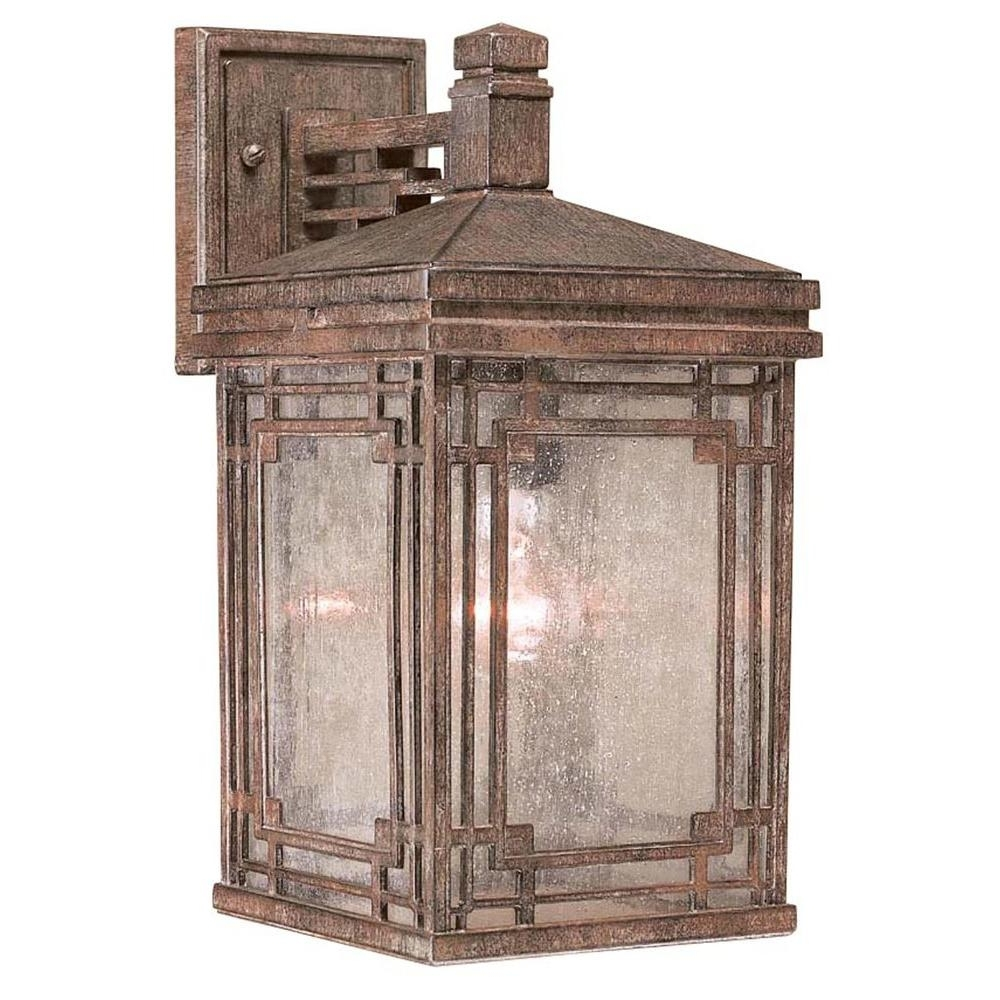 Vintage Outdoor Lanterns Inside Recent Hampton Bay 1 Light Vintage Rust Larkin Street Outdoor Wall Mount (Gallery 15 of 20)