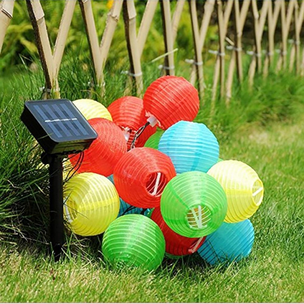 Vunji 5M Solar Light 20 Leds Outdoor Nylon Lantern String Light Inside 2019 Outdoor Nylon Lanterns (Gallery 20 of 20)