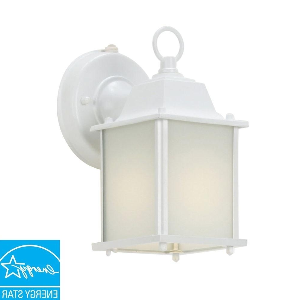Wall Mount Lantern Outdoor Cube Light Patio Porch Dusk To Dawn Regarding Current Outdoor Lanterns With Photocell (View 14 of 20)