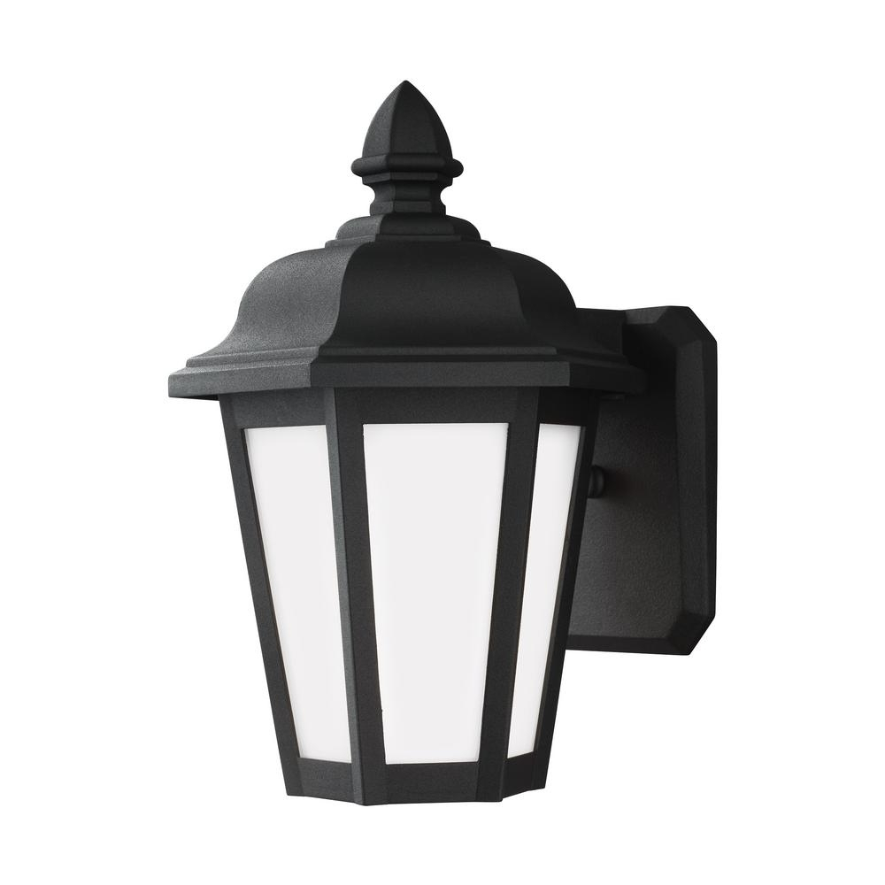 Wall Mounted Outdoor Lanterns Regarding 2018 Sea Gull Lighting Brentwood 1 Light Black Outdoor Wall Mount Lantern (View 4 of 20)