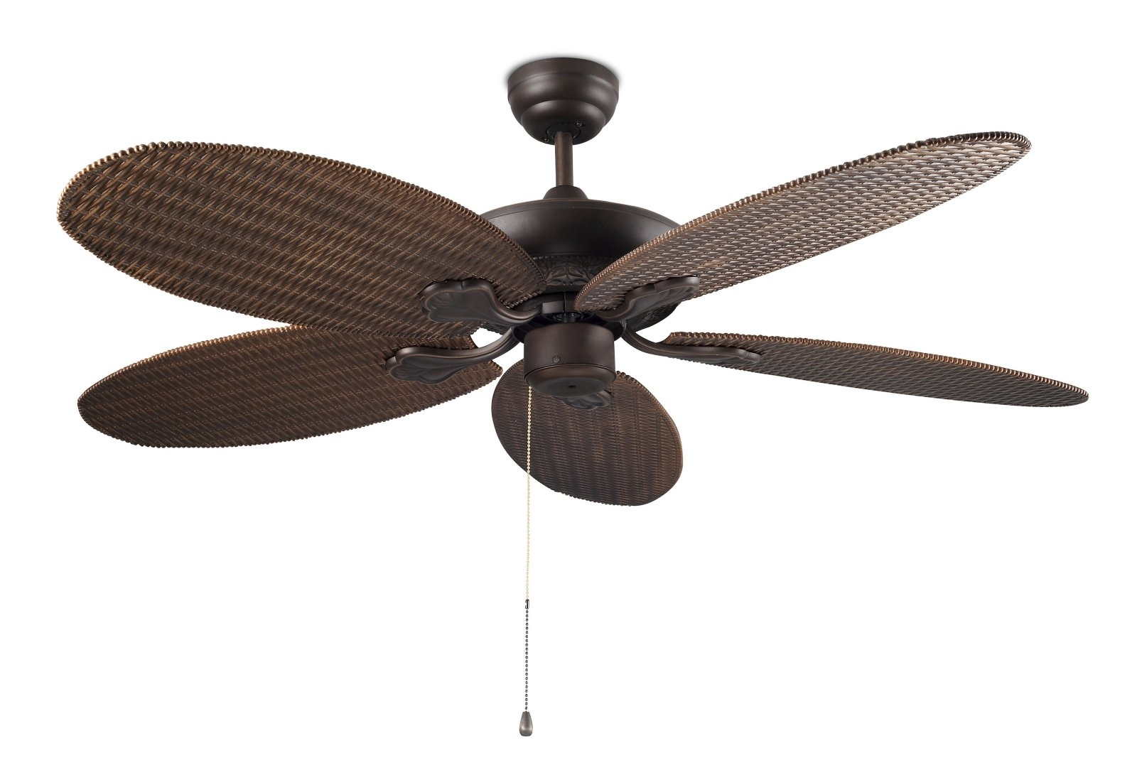 Featured Photo of Wicker Outdoor Ceiling Fans With Lights