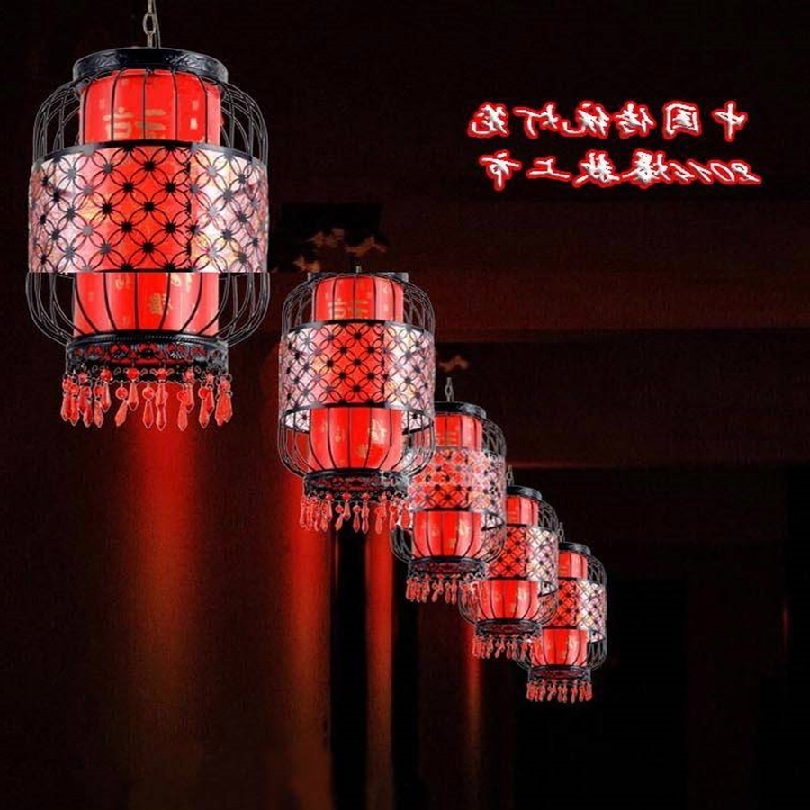 Waterproof Outdoor Lanterns Intended For Well Known Waterproof Outdoor Balcony Red Lanterns Villa Hotel New Chinese (View 12 of 20)