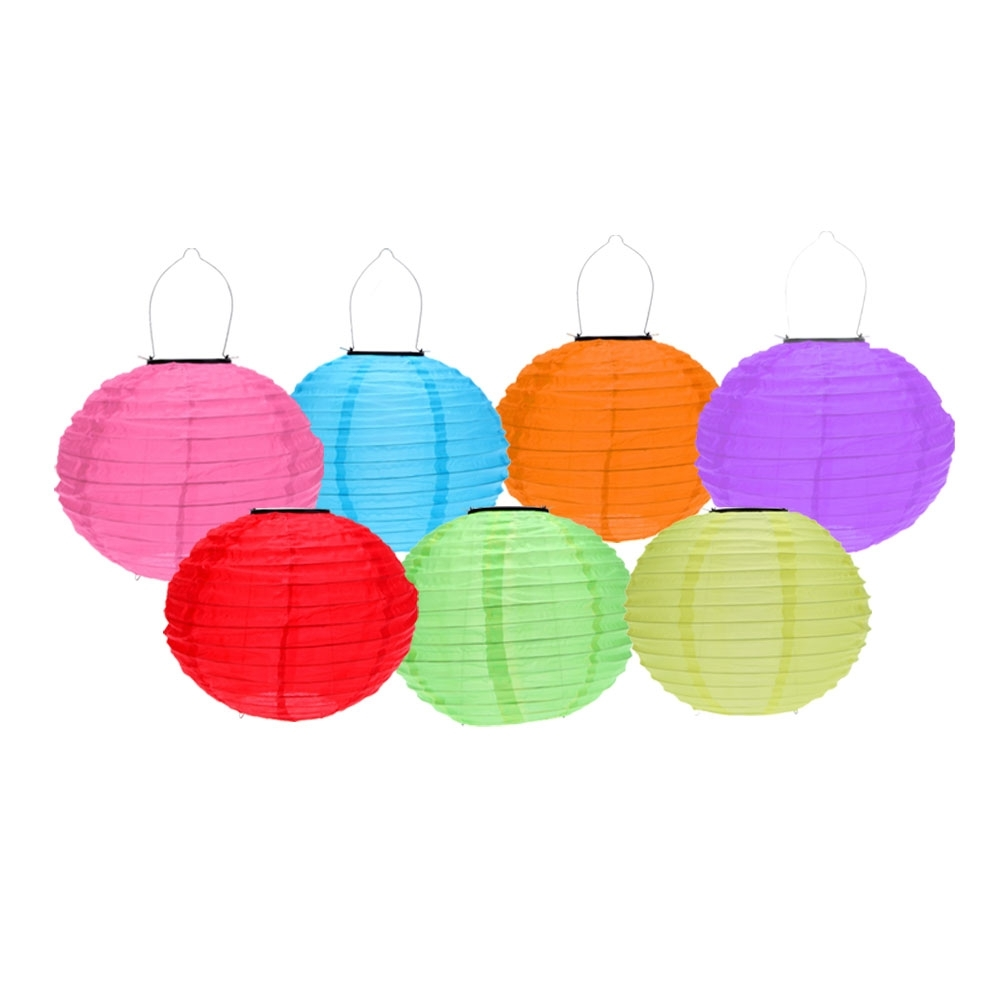 Waterproof Outdoor Lanterns Regarding Favorite Best 10 Inch 7 Multi Color Solar Outdoor Chinese Lantern For Garden (View 13 of 20)