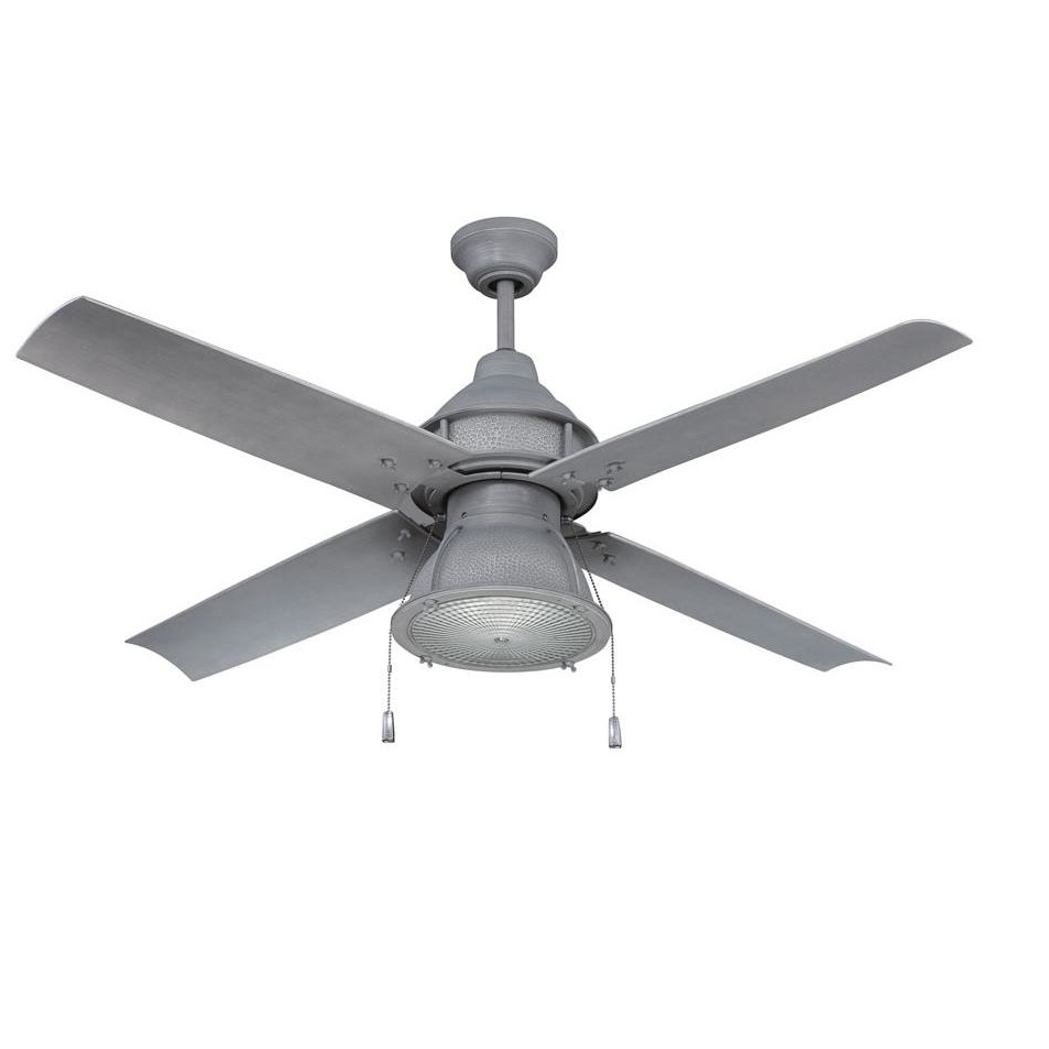 "Well Known 17 Stories 52"" Martika 4 Blade Outdoor Led Ceiling Fan & Reviews For Outdoor Ceiling Fans With Removable Blades (View 20 of 20)"