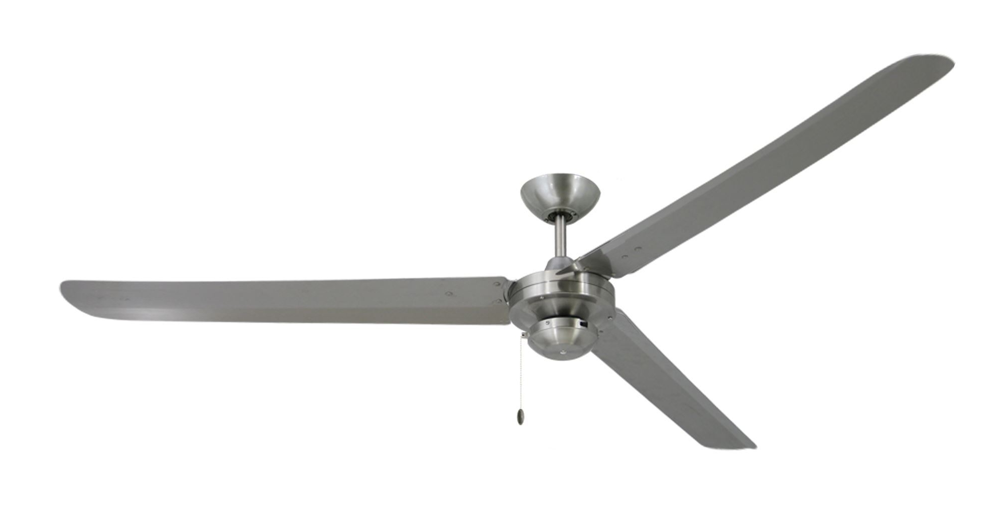 Well Known 72 Inch Outdoor Ceiling Fans With Light Within Tornado 72 In Stainless Steel S316 Industrial Ceiling Fan (View 18 of 20)