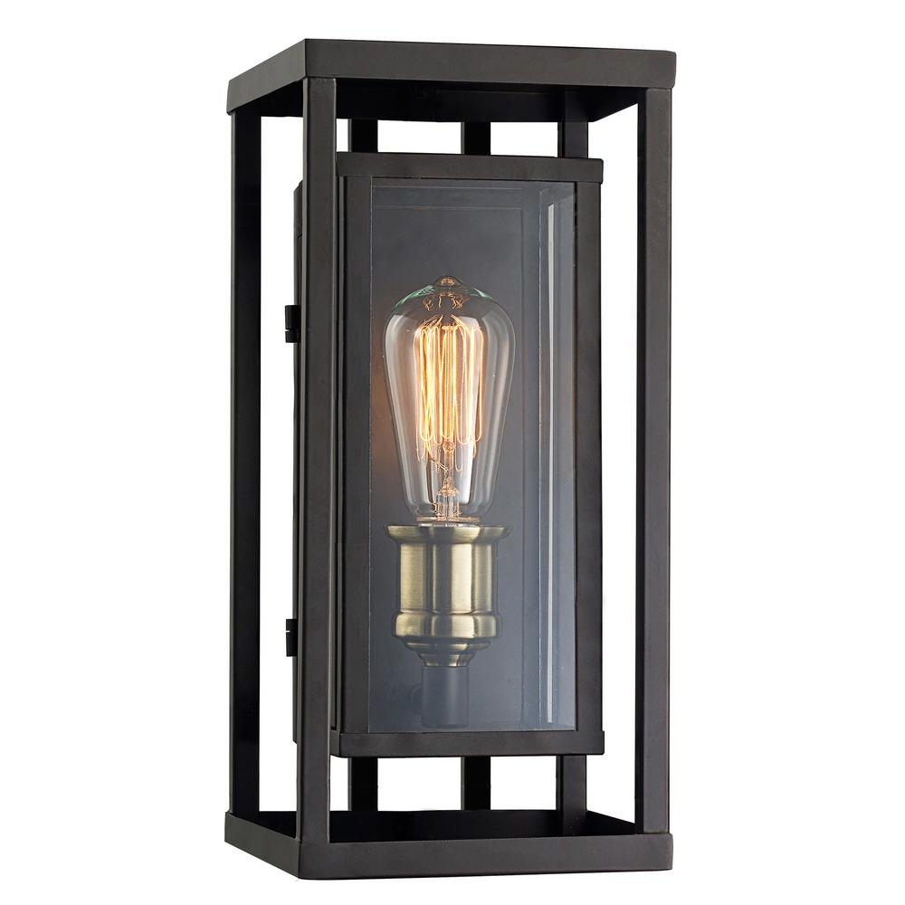 Well Known Antique Outdoor Lanterns Within Monteaux Lighting Retro 1 Light Oil Rubbed Bronze And Antique Brass (View 11 of 20)