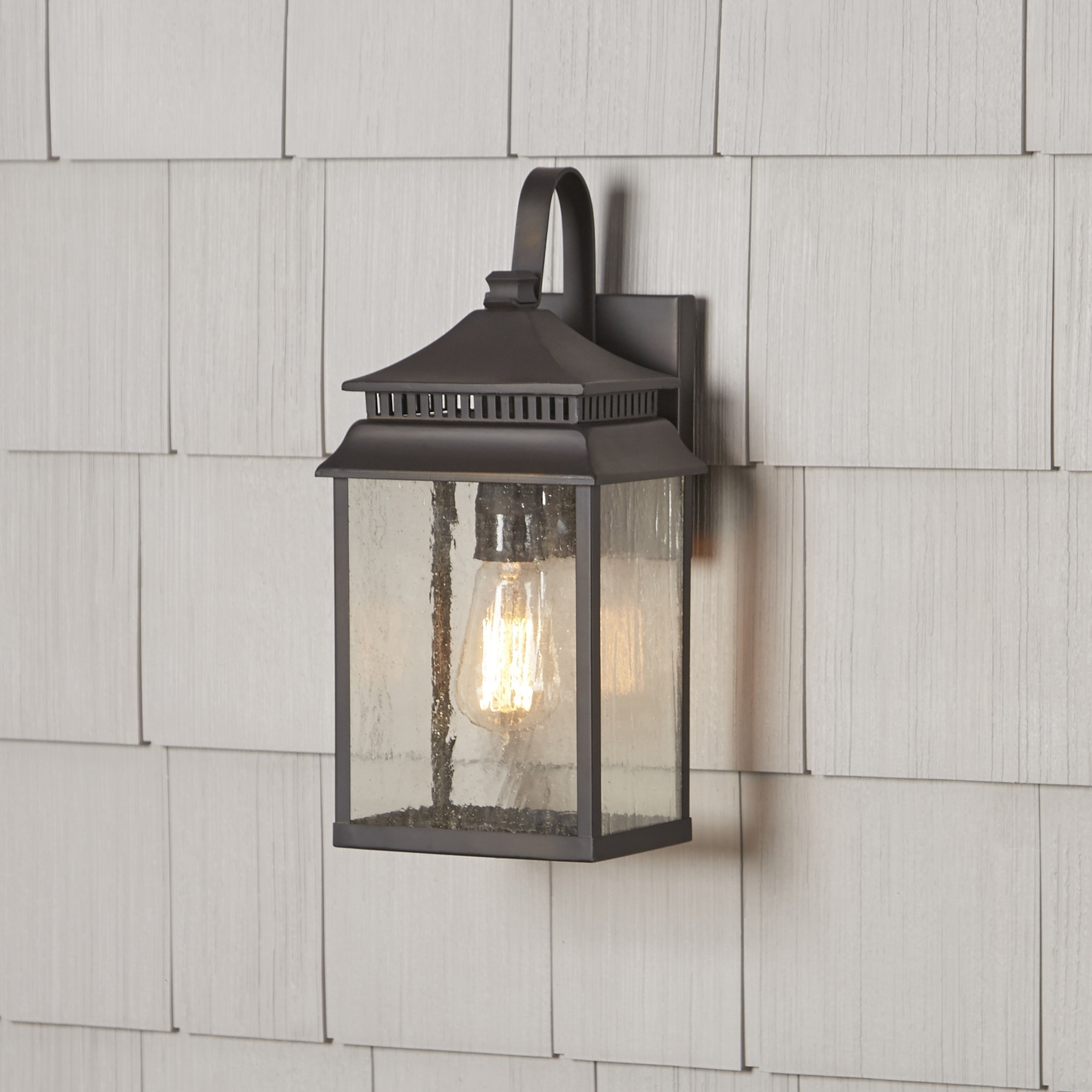 Well Known Birch Lane™ Briarfield 1 Light Outdoor Wall Lantern & Reviews With Regard To Outdoor Wall Lanterns (View 16 of 20)