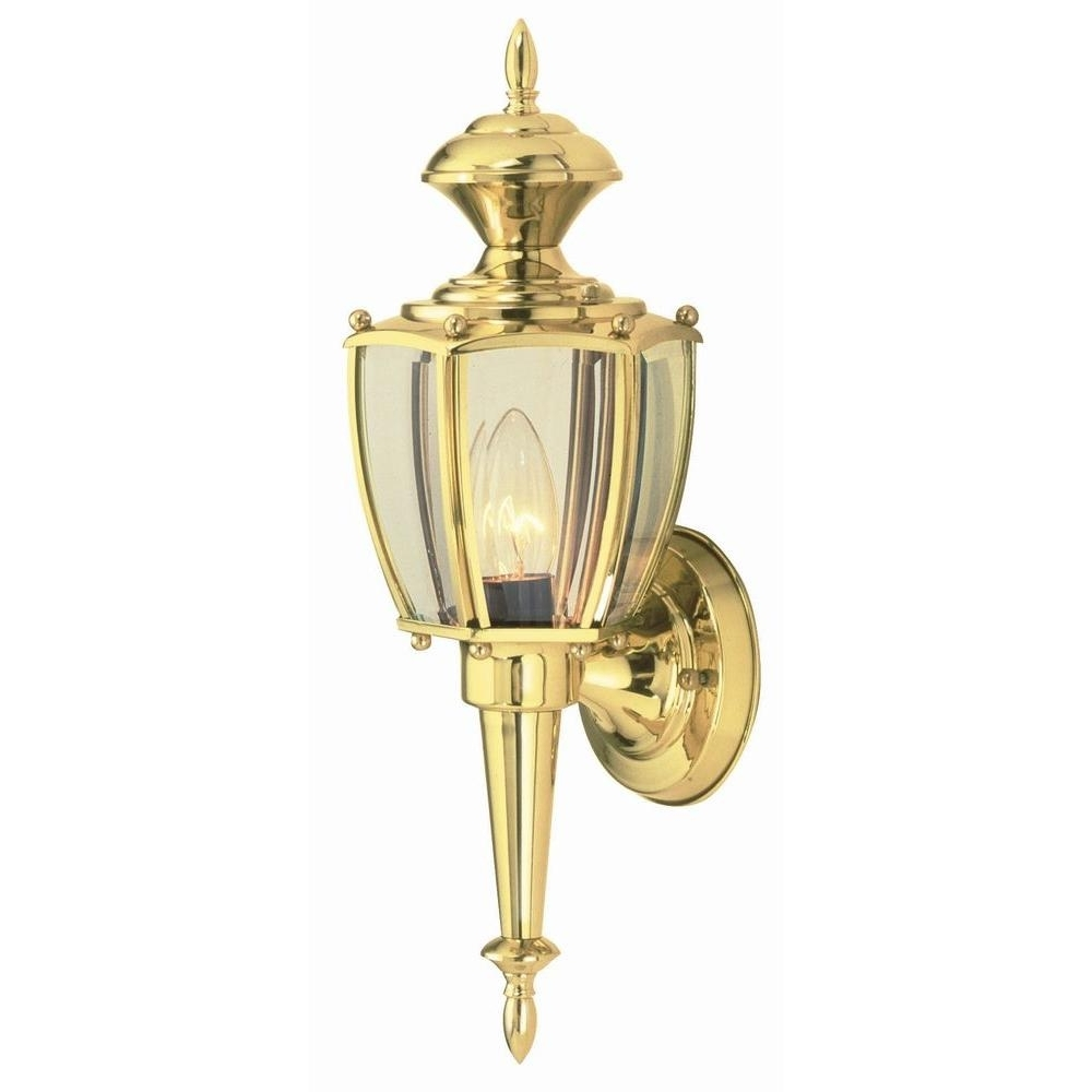 Well Known Brass Outdoor Lighting For Gold Outdoor Lanterns (View 20 of 20)