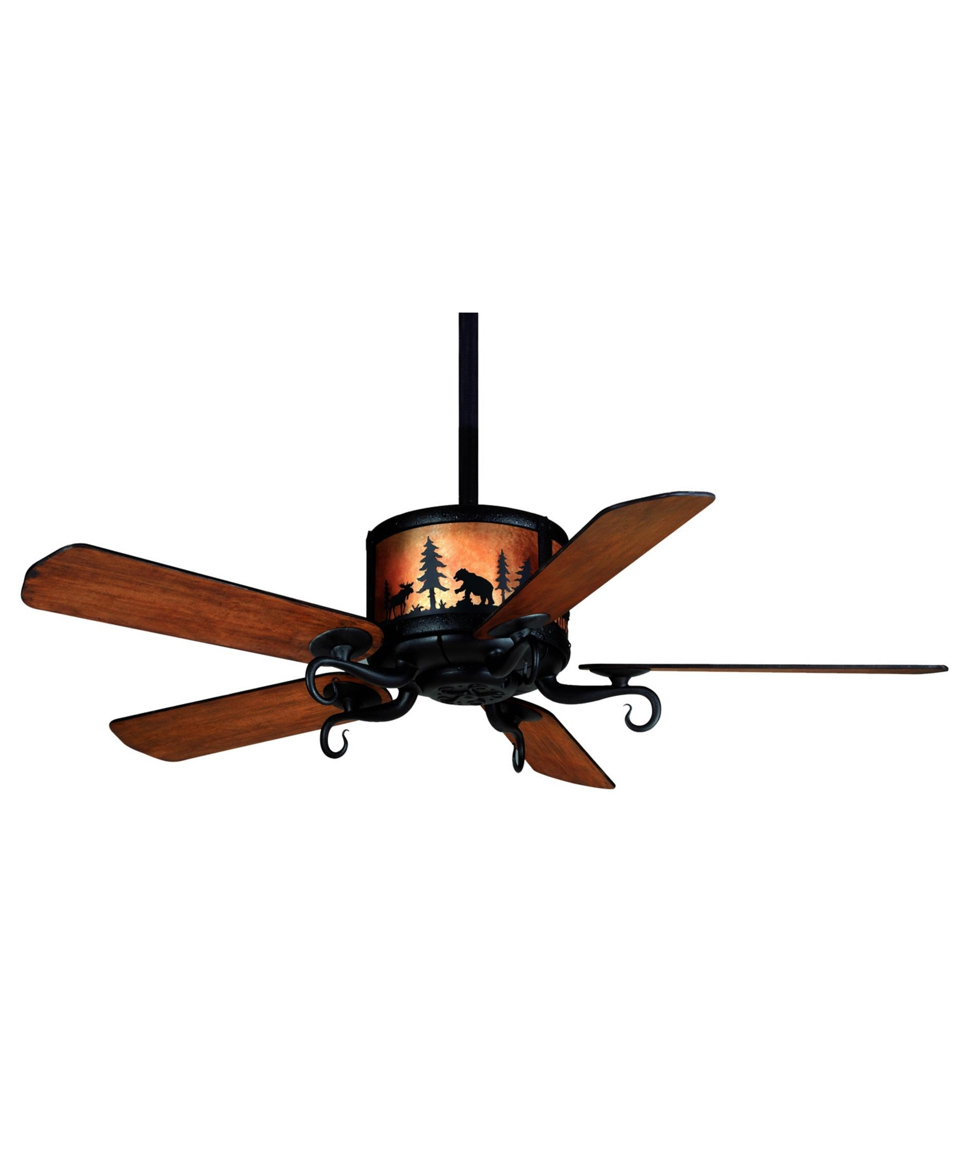 Well Known Casablanca Outdoor Ceiling Fans With Lights Intended For Casablanca 86u89m Wilderness 54 Inch 5 Blade Ceiling Fan (View 9 of 20)