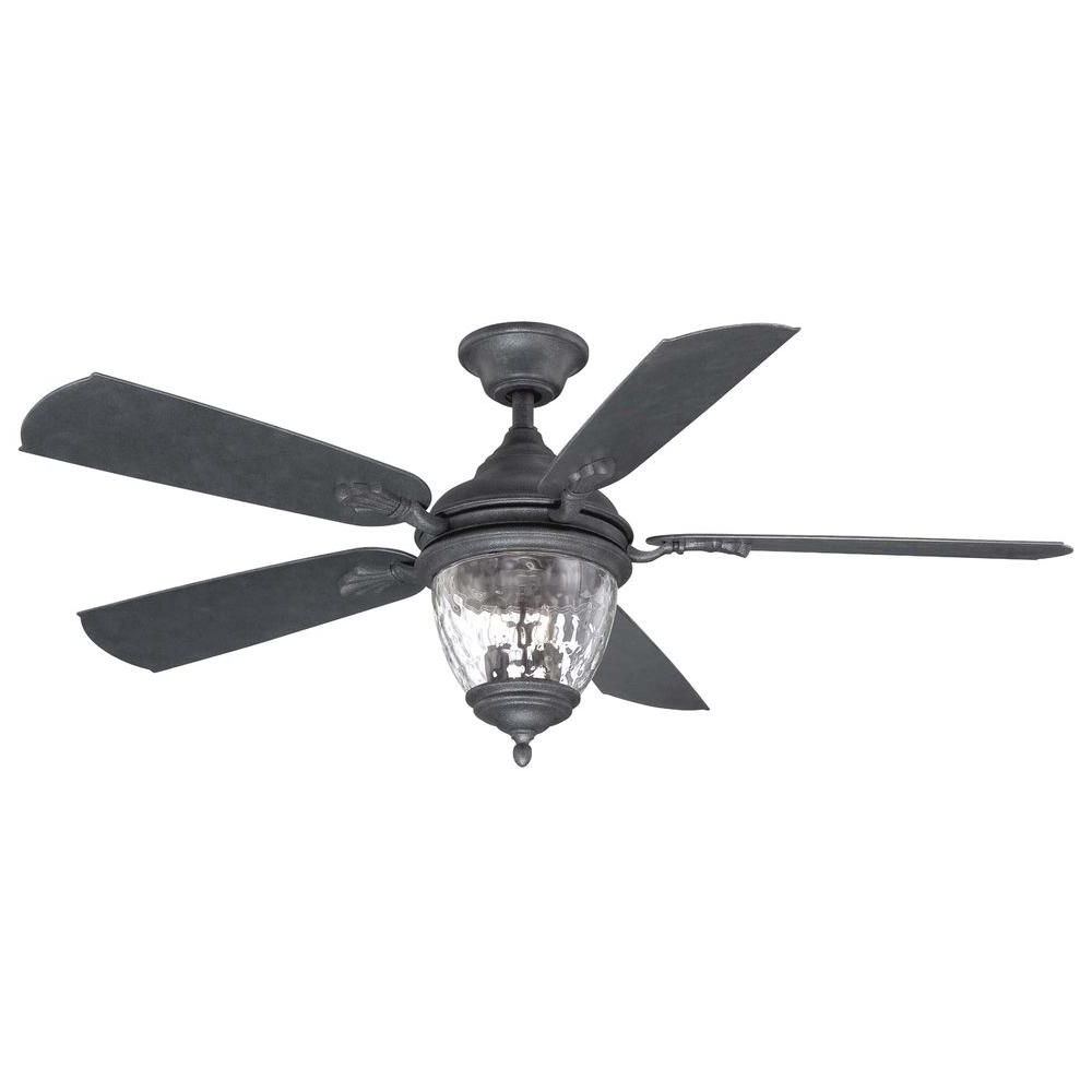 Well Known Cool Black Outdoor Ceiling Fan Fans Pixball Com Home Decorators With Regard To Black Outdoor Ceiling Fans (View 15 of 20)