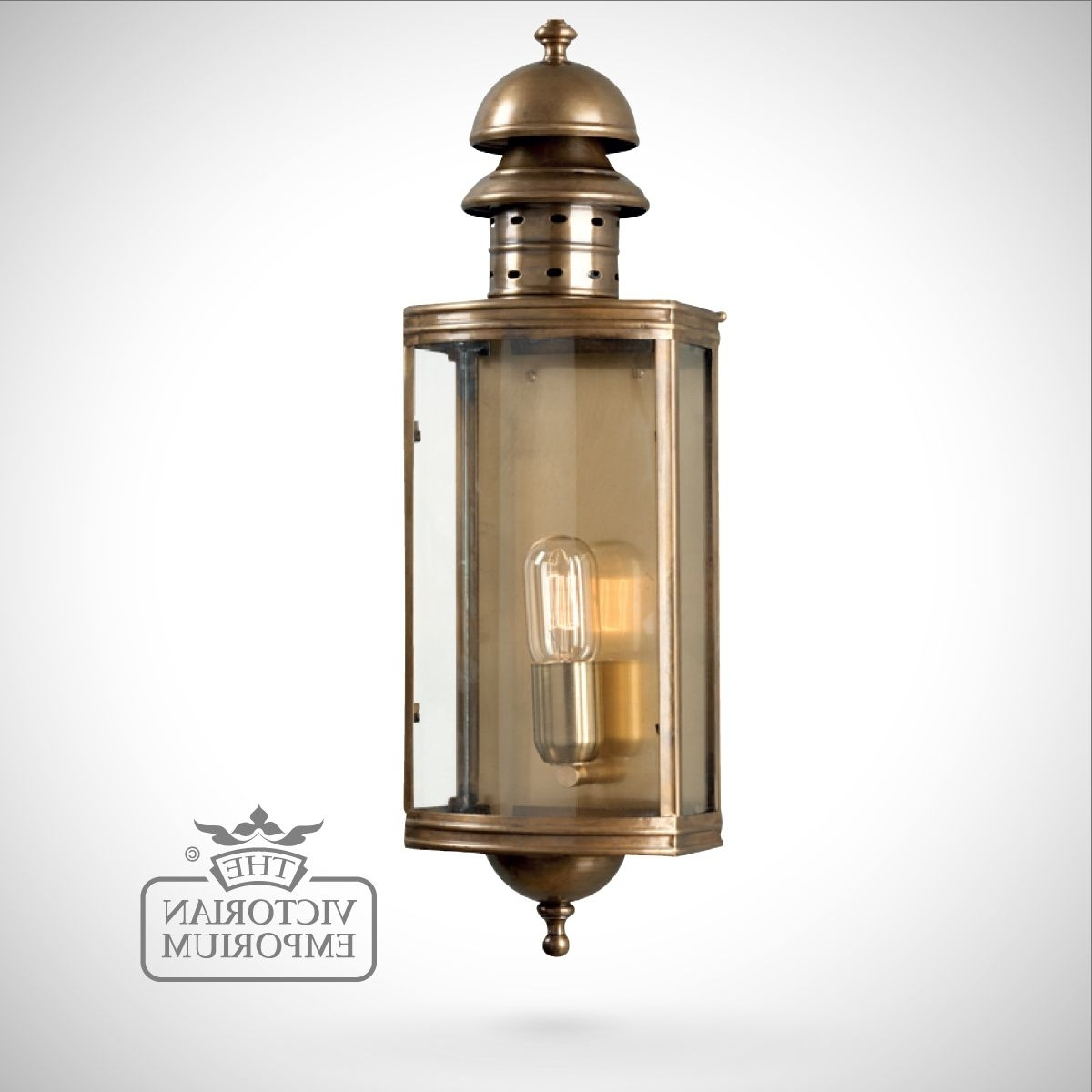 Well Known Downing Street Brass Wall Lantern – Antique Brass (View 8 of 20)