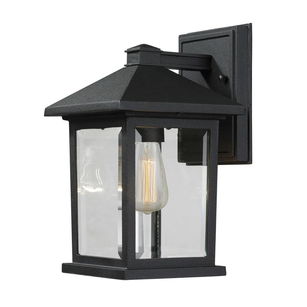 Well Known Filament Design Malone 1 Light Black Modern Outdoor Sconce With Pertaining To Modern Outdoor Lanterns (View 18 of 20)