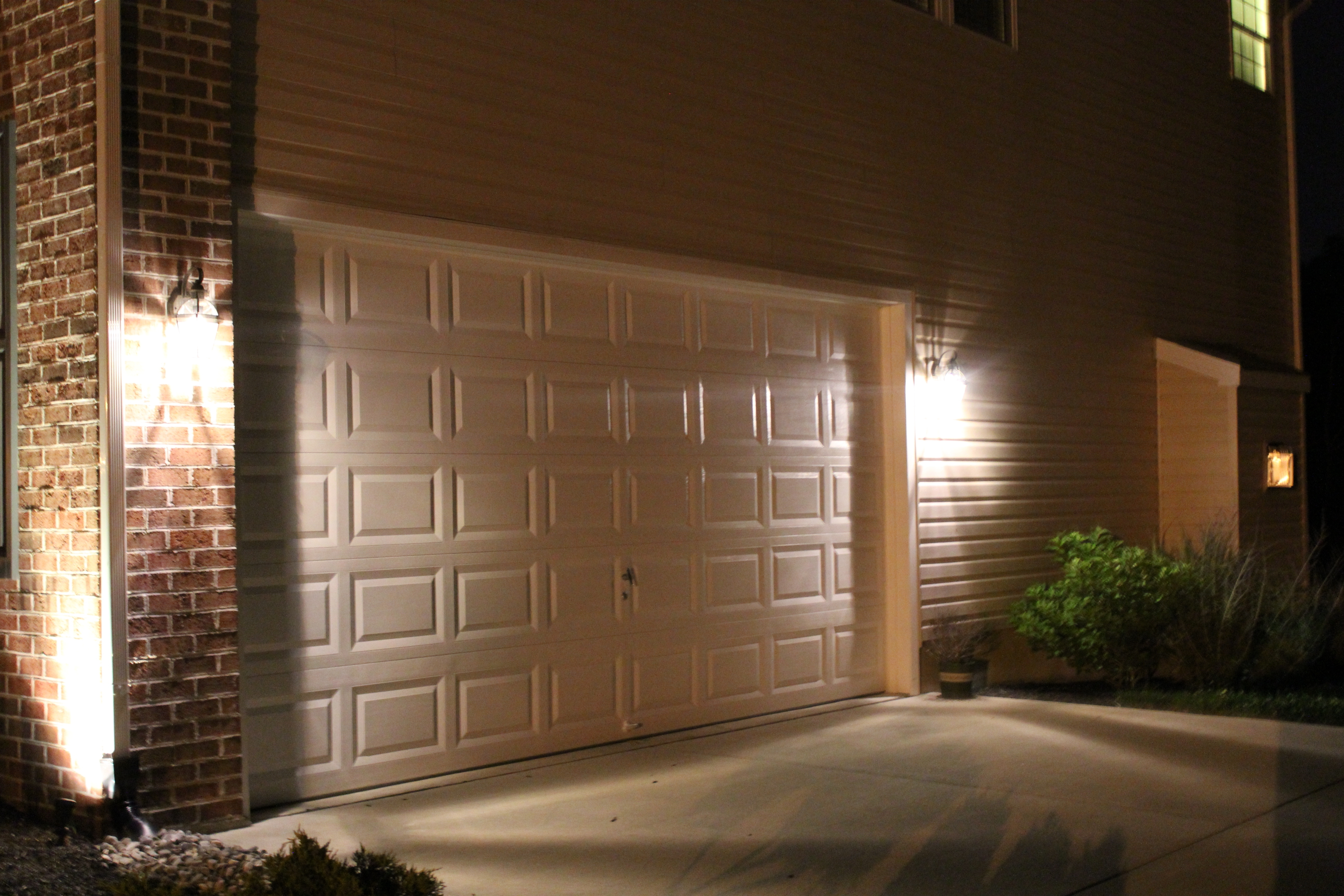 Well Known Flood Light Over Garage W Led Outdoor Outside Garden Drive Lights With Outdoor Garage Lanterns (View 18 of 20)