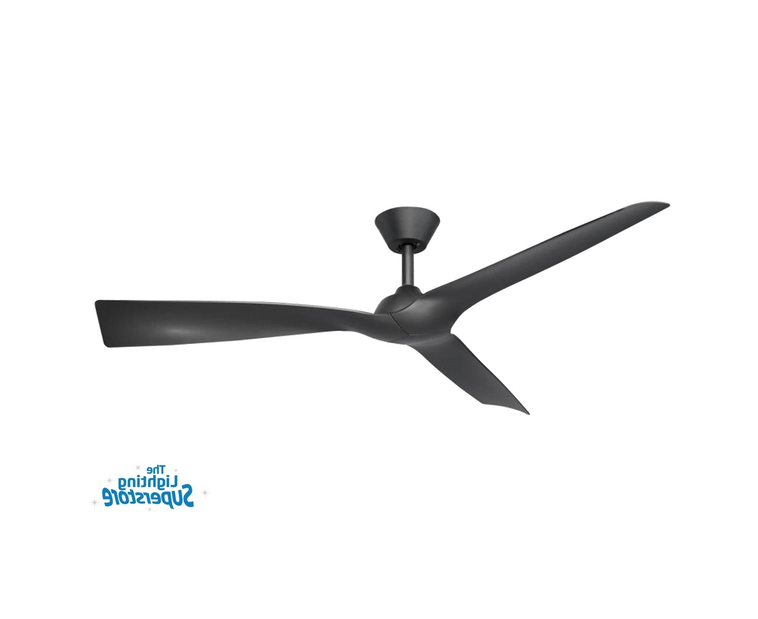 "Well Known Gold Coast Outdoor Ceiling Fans Intended For 52"" Trinidad Ii Black Ceiling Fan – Plastic Moulded Blade Ceiling Fan (View 19 of 20)"