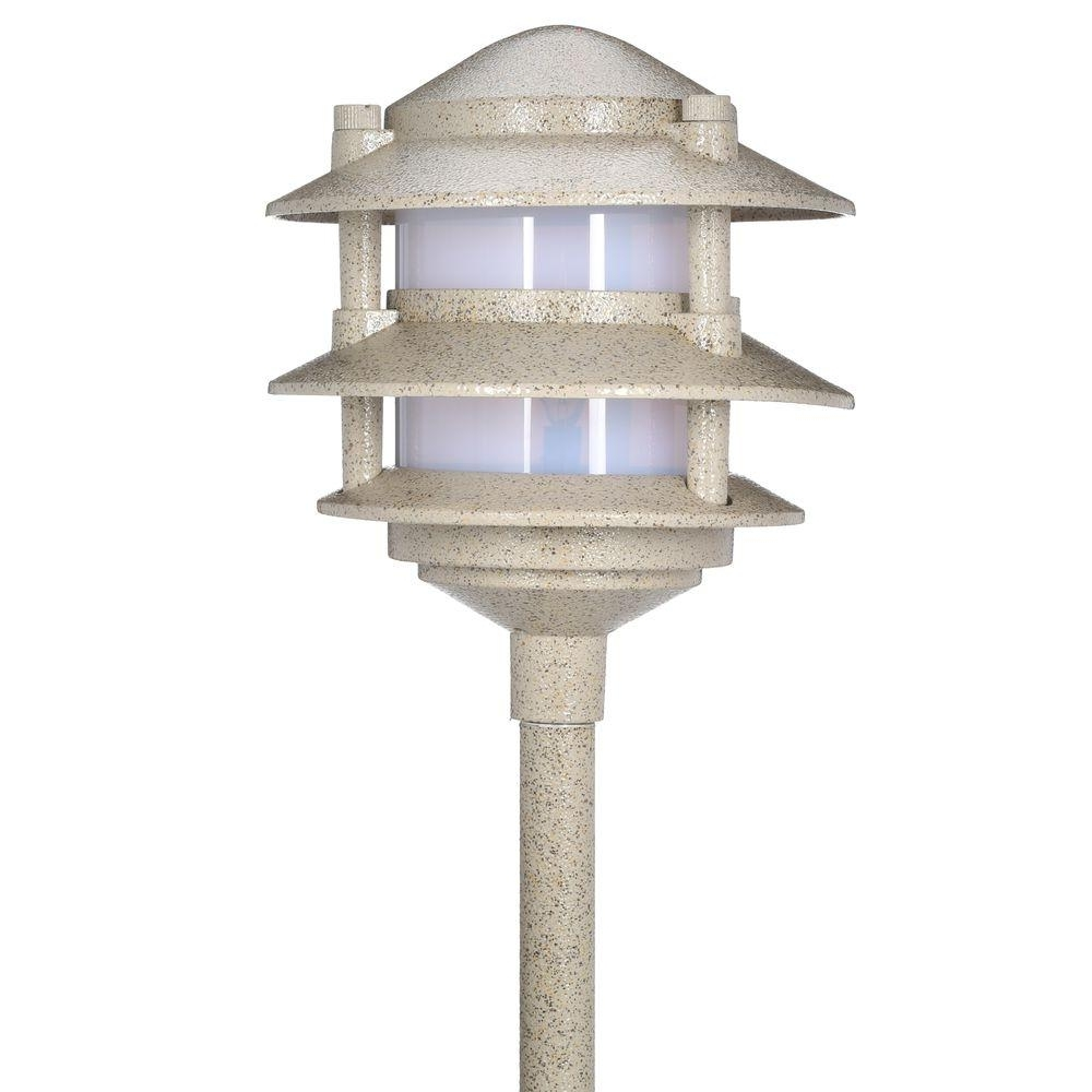Well Known Hampton Bay Low Voltage 11 Watt Sand Outdoor Halogen 3 Tier In Outdoor Low Voltage Lanterns (View 18 of 20)
