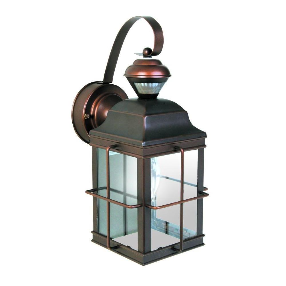 Well Known Heath Zenith New England Carriage 150 Degree Antique Bronze Motion Regarding Antique Outdoor Lanterns (View 2 of 20)