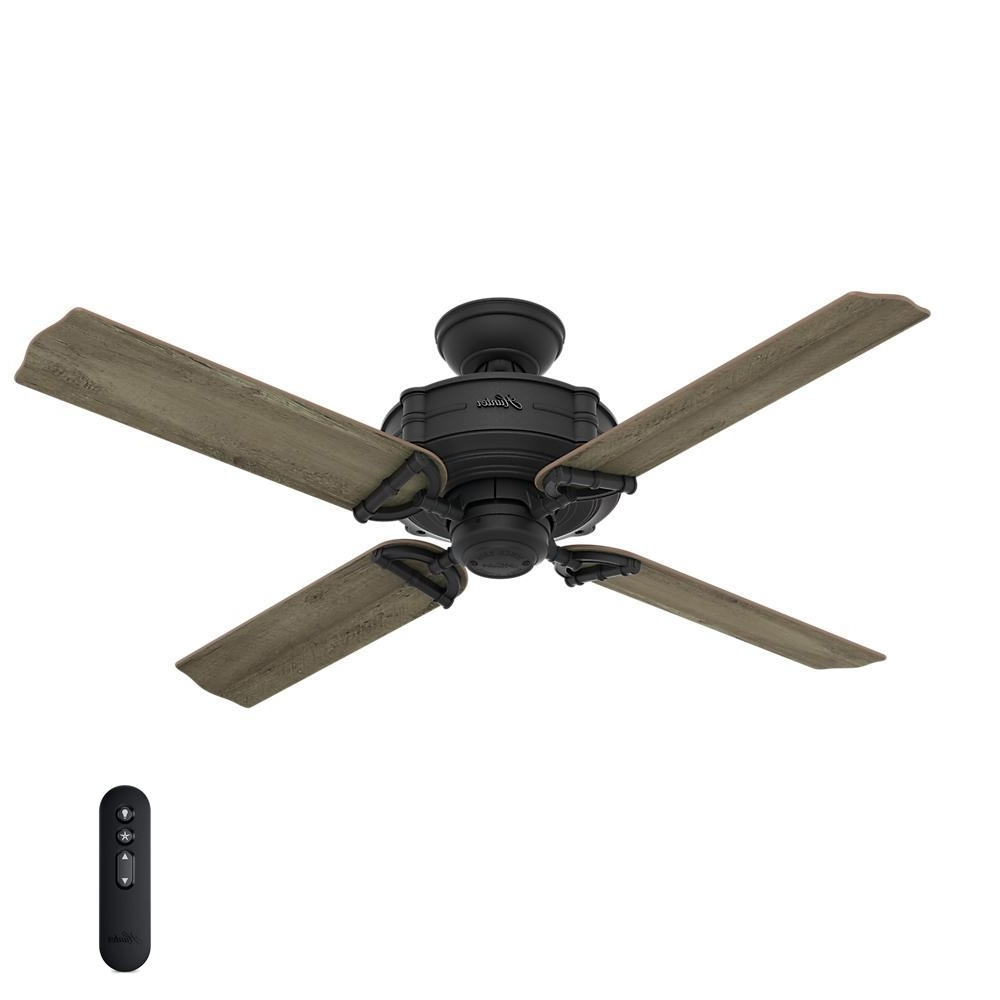 Well Known Hunter Outdoor Ceiling Fans With Lights And Remote For Hunter Brunswick 52 In (View 10 of 20)