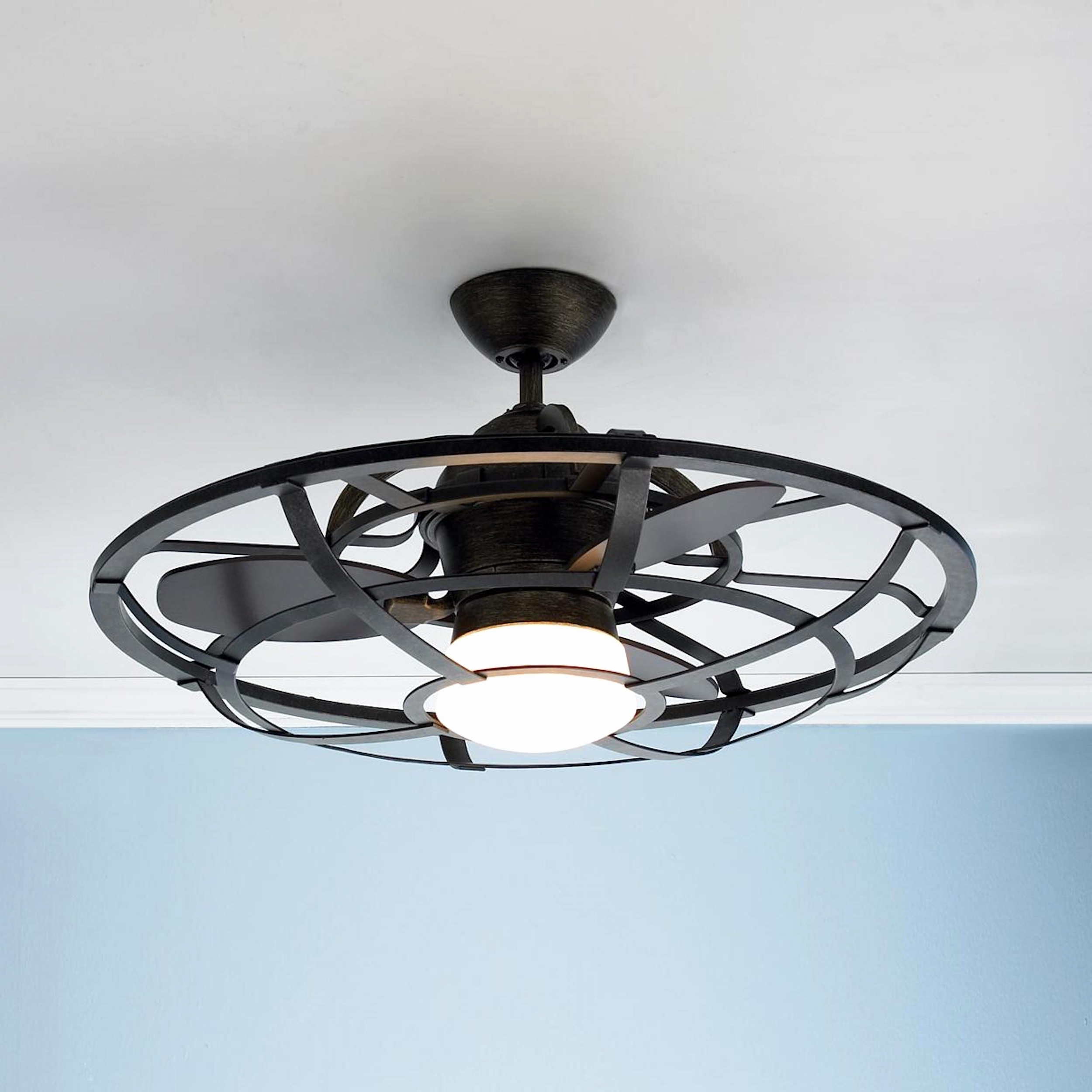 Well Known Industrial Looking Ceiling Fans Lovely Dark Aged Bronze Outdoor With Regard To Outdoor Ceiling Fans With Lantern (View 19 of 20)