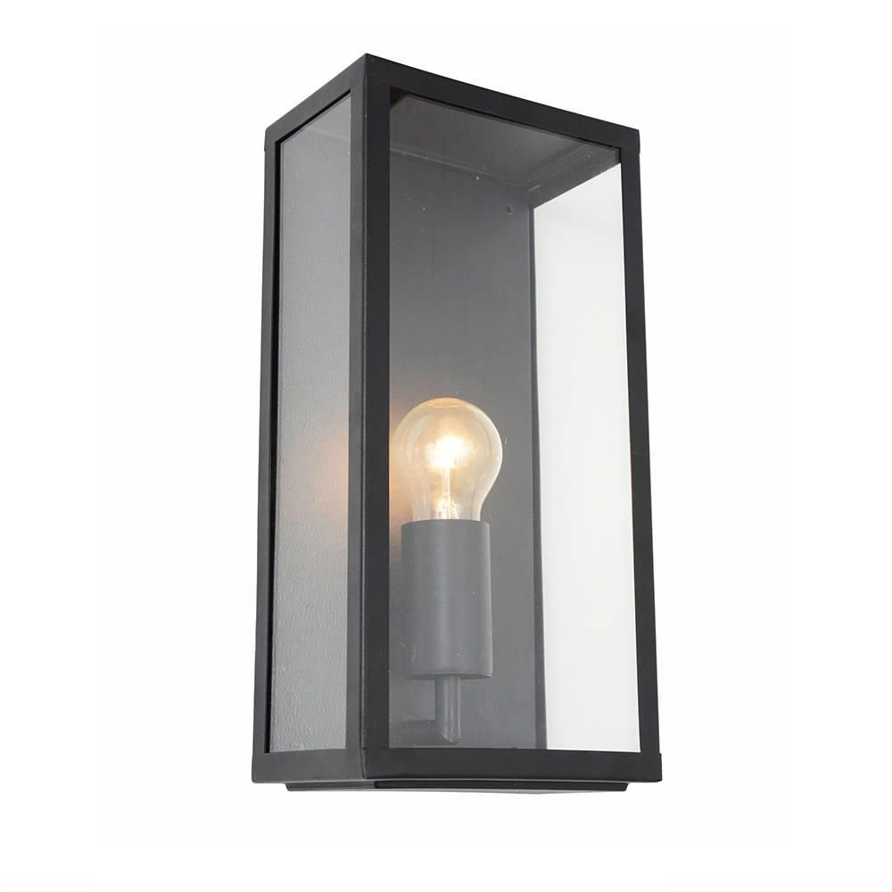 Well Known Industrial Outdoor Lanterns Inside Wall Light – Outdoor Black Mersey Lantern Wall Light (View 17 of 20)