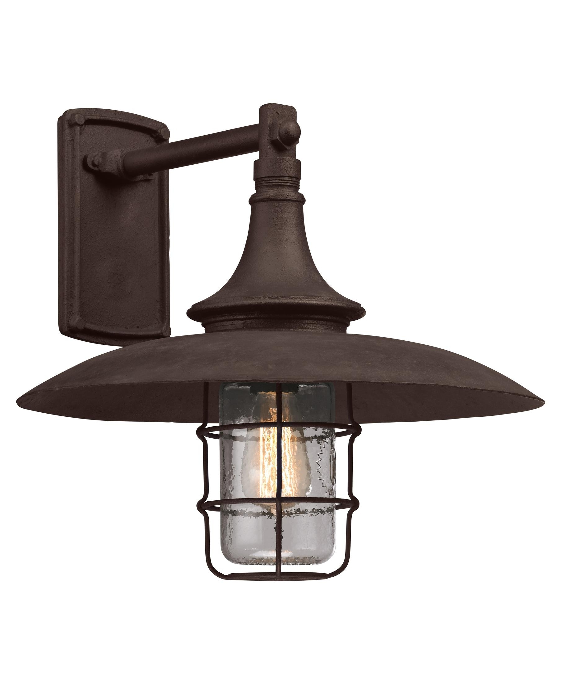Well Known Industrial Outdoor Lanterns With Regard To Troy Lighting B3222 Allegany 16 Inch Wide 1 Light Outdoor Wall Light (View 18 of 20)