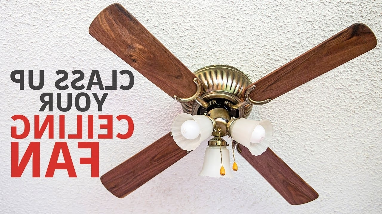 Well Known Making Ceiling Fan Blades From Black Walnut – Youtube Within Outdoor Ceiling Fans With Plastic Blades (View 20 of 20)
