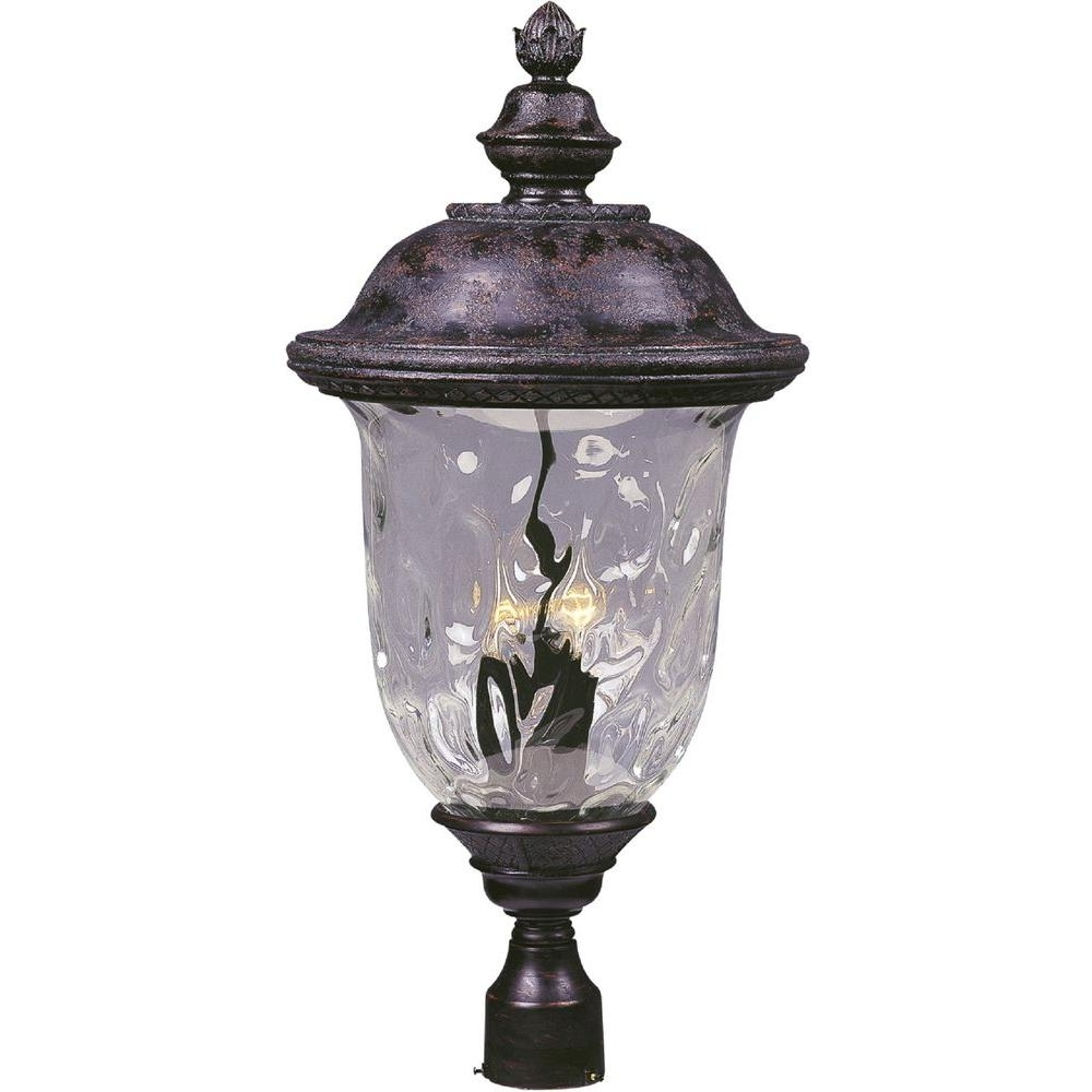 Well Known Maxim Lighting – Post Lighting – Outdoor Lighting – The Home Depot Throughout Outdoor Pole Lanterns (View 19 of 20)