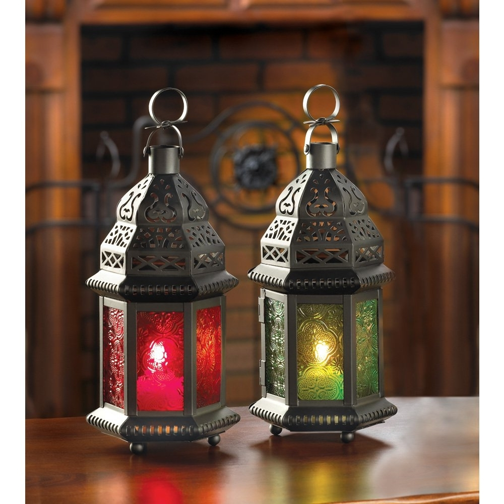 Outdoor Moroccan Lighting In Well Known Moroccan Outdoor Lanterns In Outdoor Metal Lantern Lamp For Red Displaying Gallery Of view 20 Photos