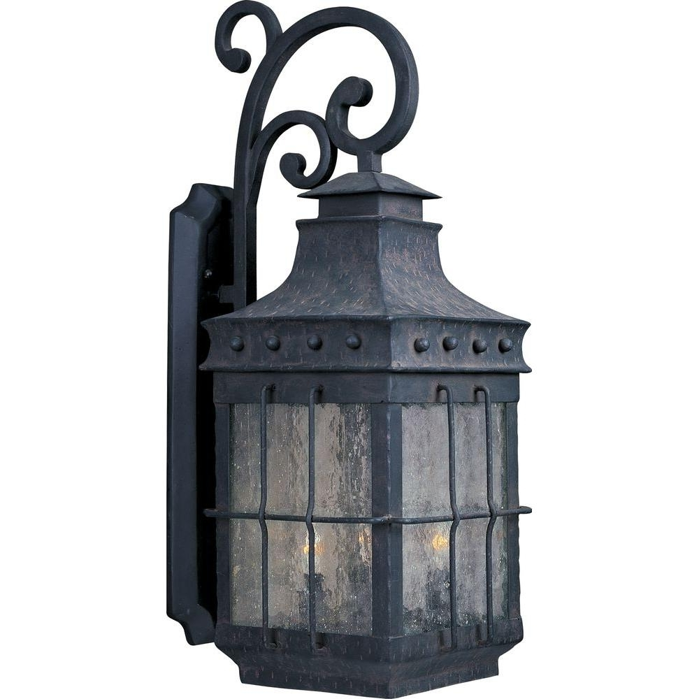 Well Known Nantucket Outdoor Lanterns In Maxim Lighting Nantucket 4 Light Country Forge Outdoor Wall Mount (View 6 of 20)