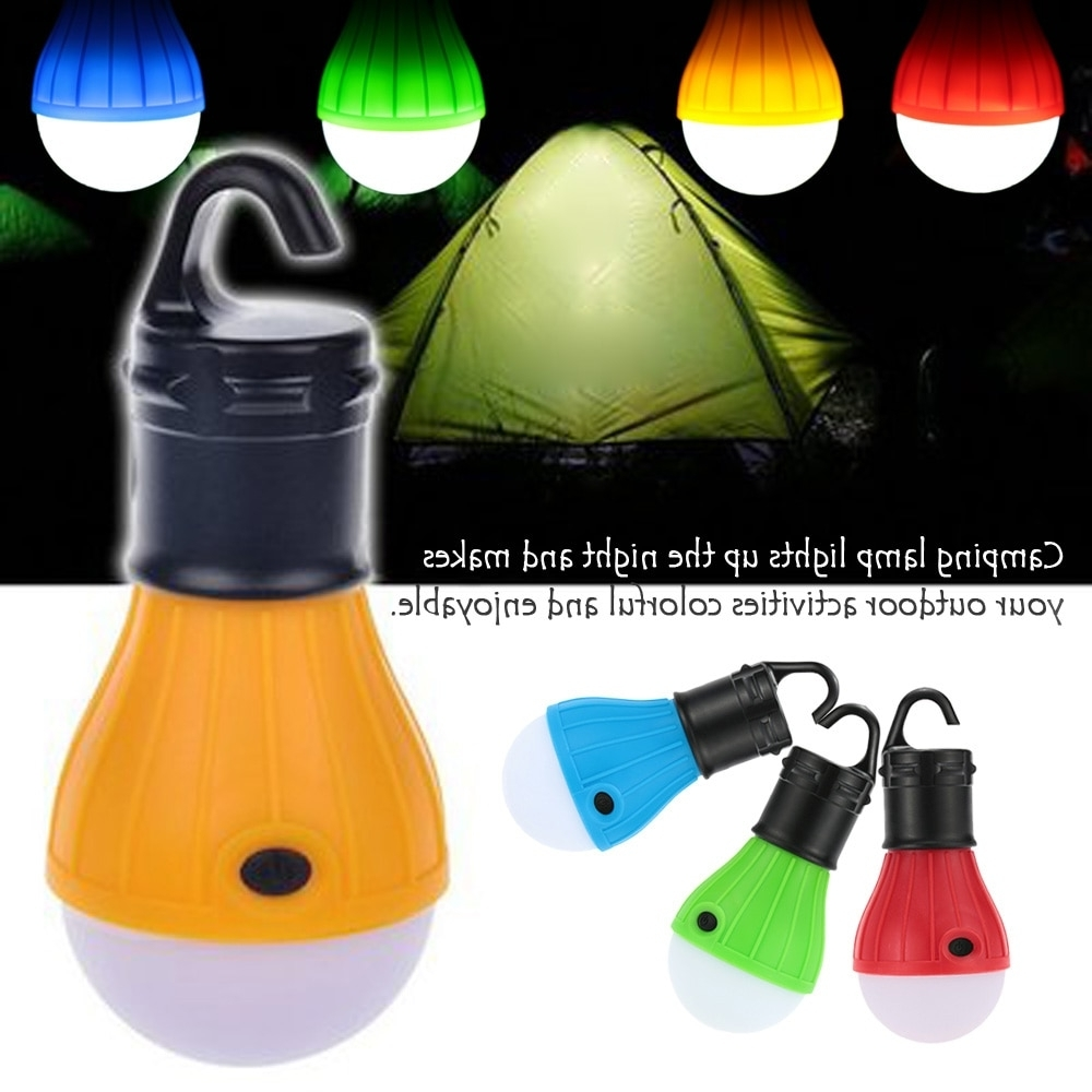 Well Known Outdoor 3 Led Tent Light Lanterns Camping Lamp Hanging Bulb Tent With Outdoor Plastic Lanterns (View 20 of 20)