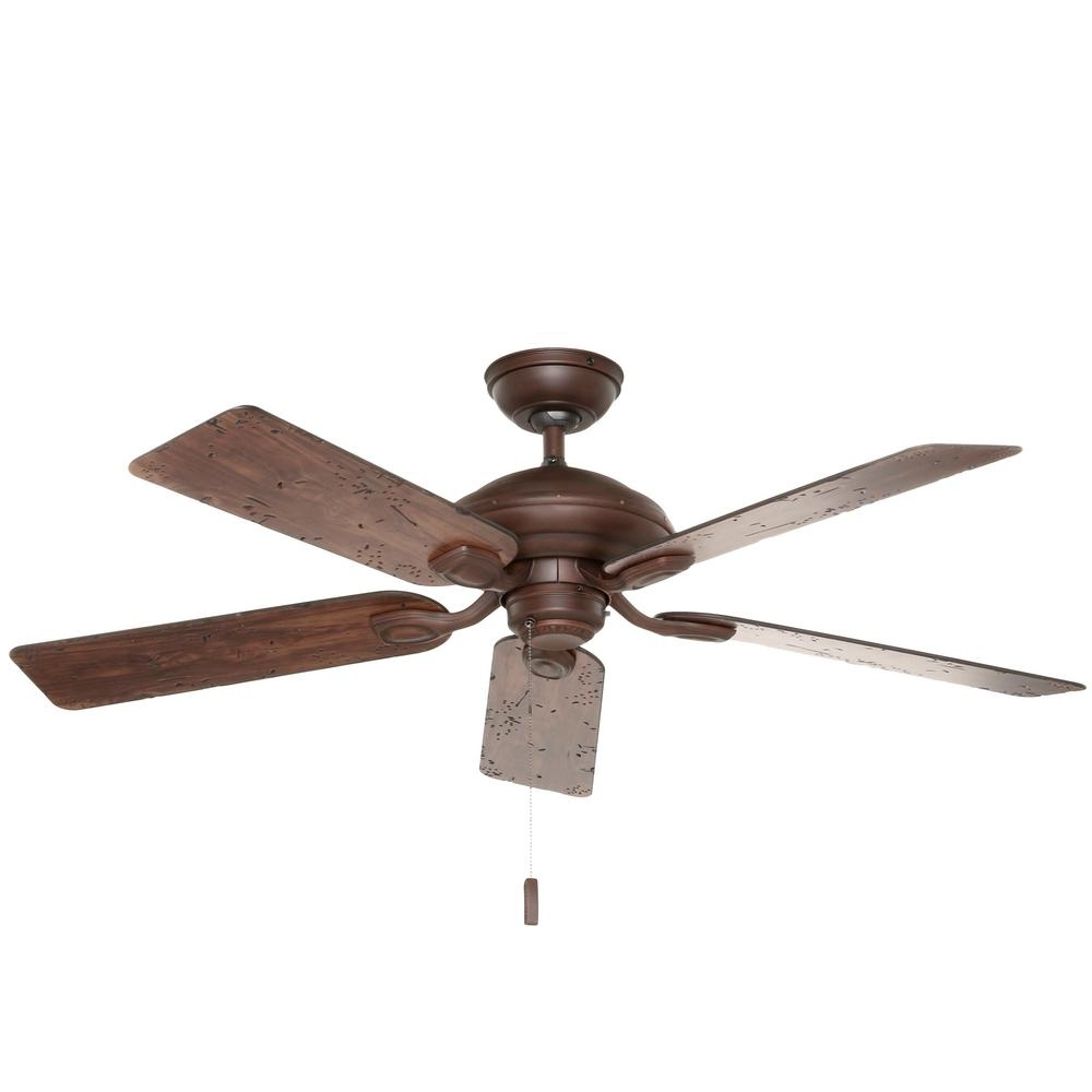 Well Known Outdoor Ceiling Fan With Light Under $100 For Hunter Caicos 52 In (View 12 of 20)
