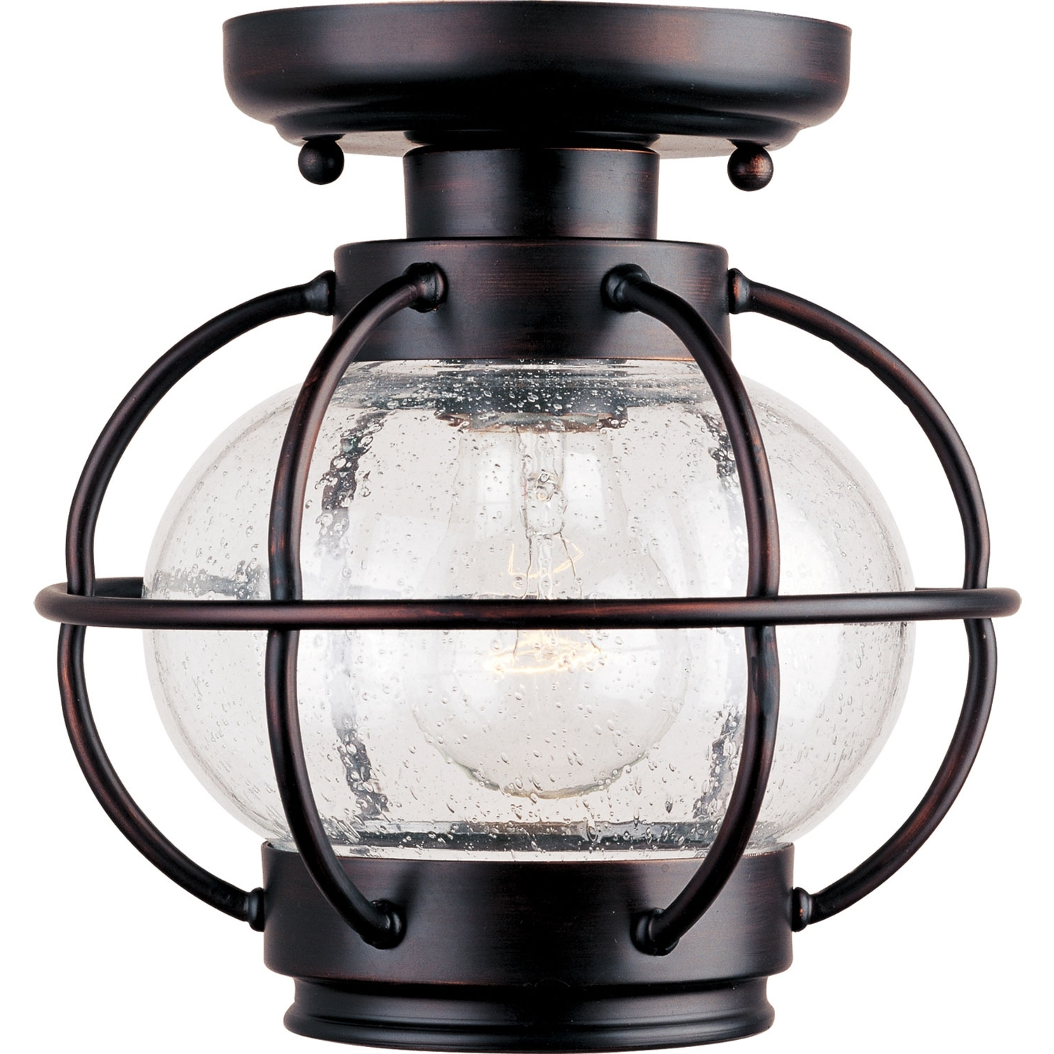 Well Known Outdoor Ceiling Fans With Lantern Light With Regard To Maxim Lighting International Portsmouth Outdoor Semi Flush Ceiling (View 18 of 20)