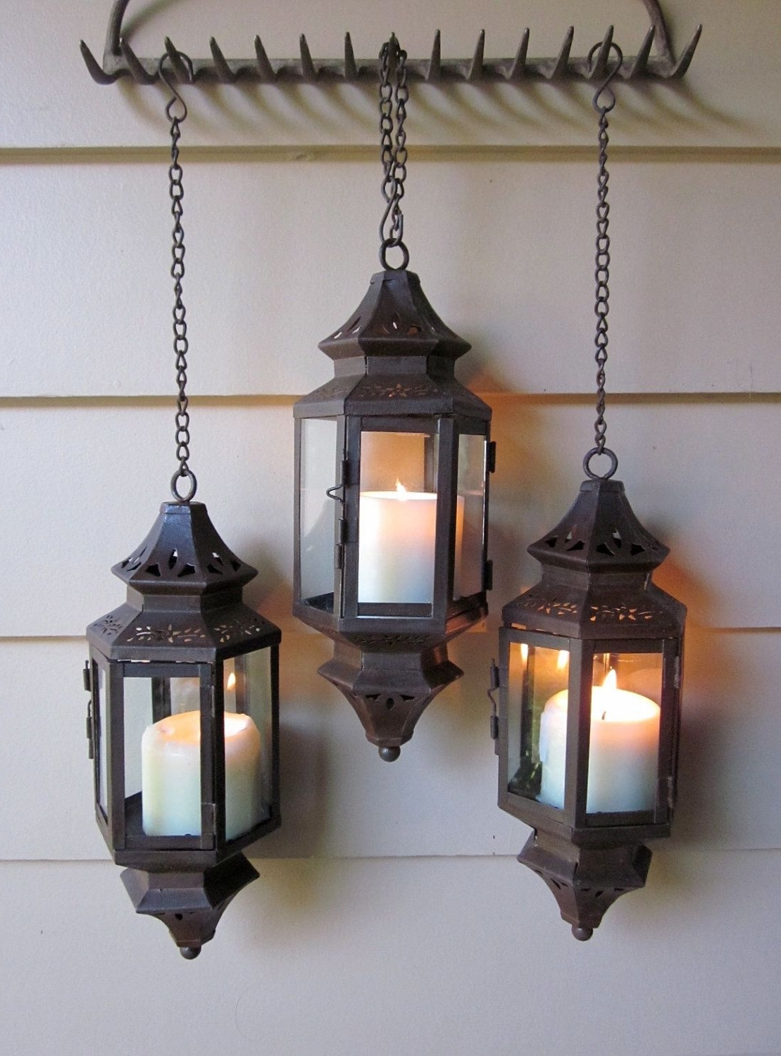 Well Known Outdoor Entrance Lanterns Inside Rust Patina Hanging Lantern For Wedding, Pathway, Patio, Wall (View 18 of 20)