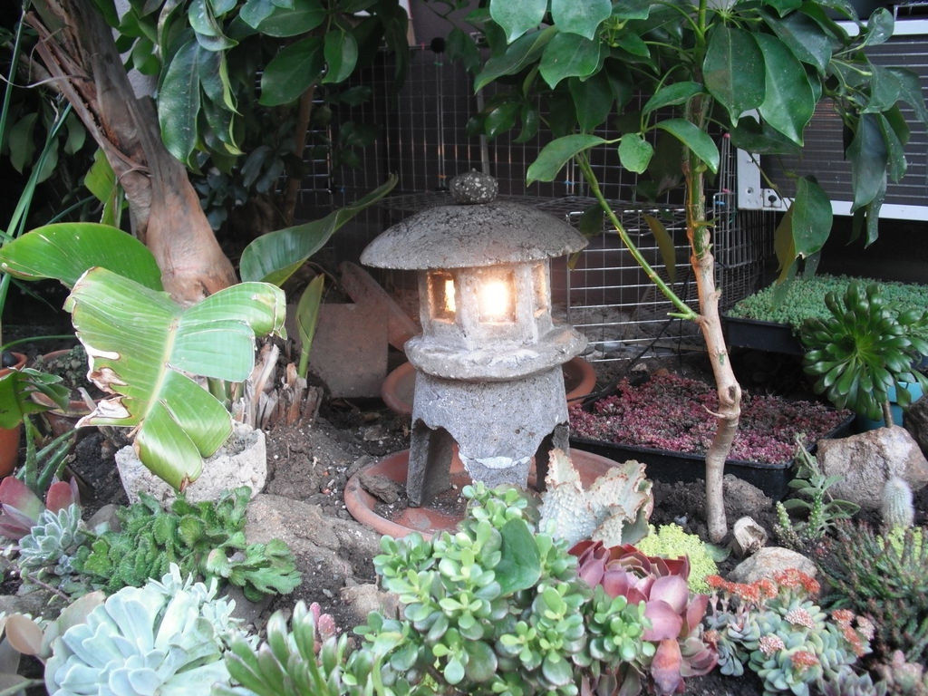 Well Known Outdoor Japanese Lanterns With Make A Japanese Garden Lantern Out Of Hypertufa: 4 Steps (with Pictures) (View 7 of 20)