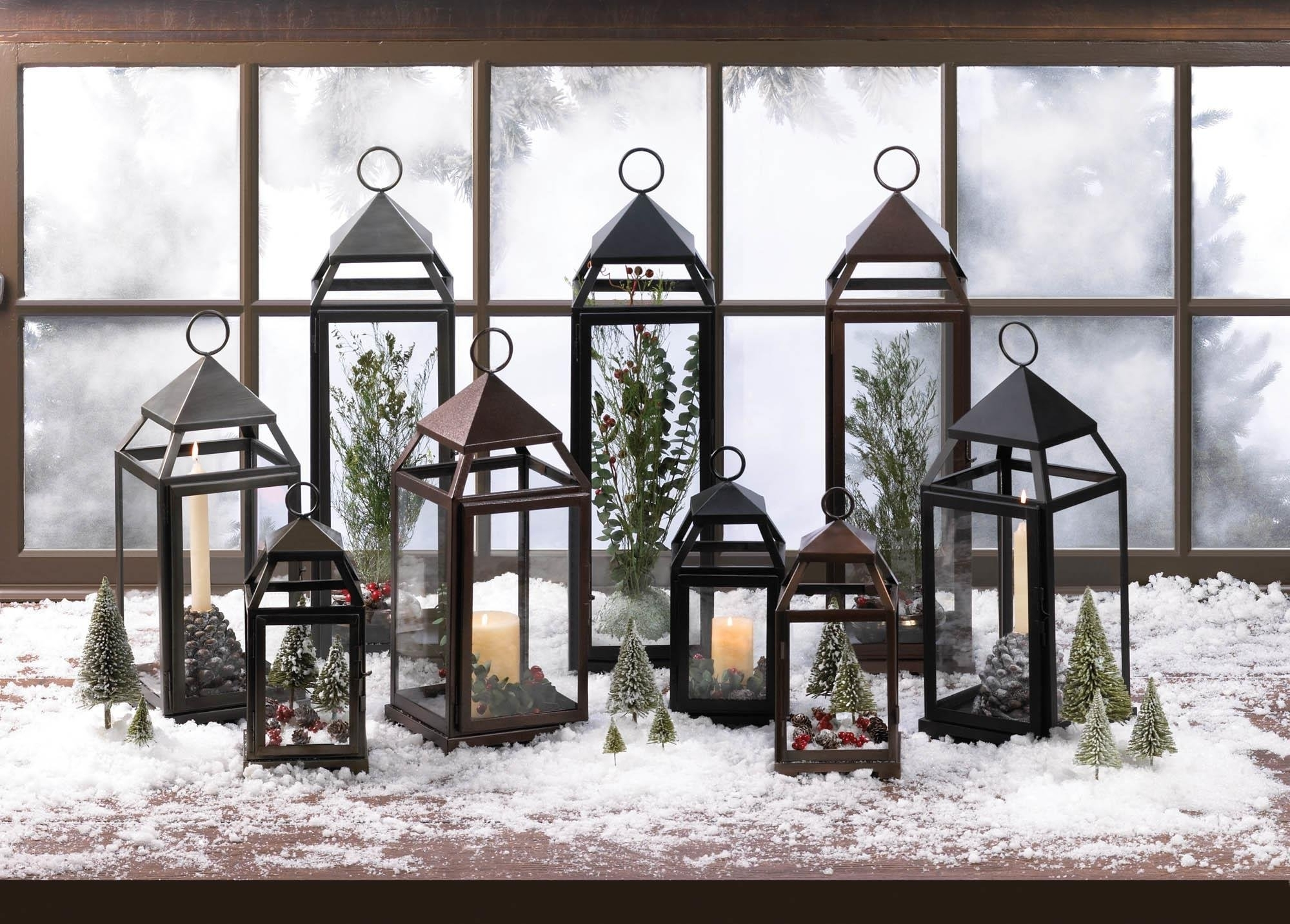 Well Known Outdoor Lanterns Decors Inside Metal Lantern, Large Contemporary Hanging Decorative Floor Patio (View 20 of 20)