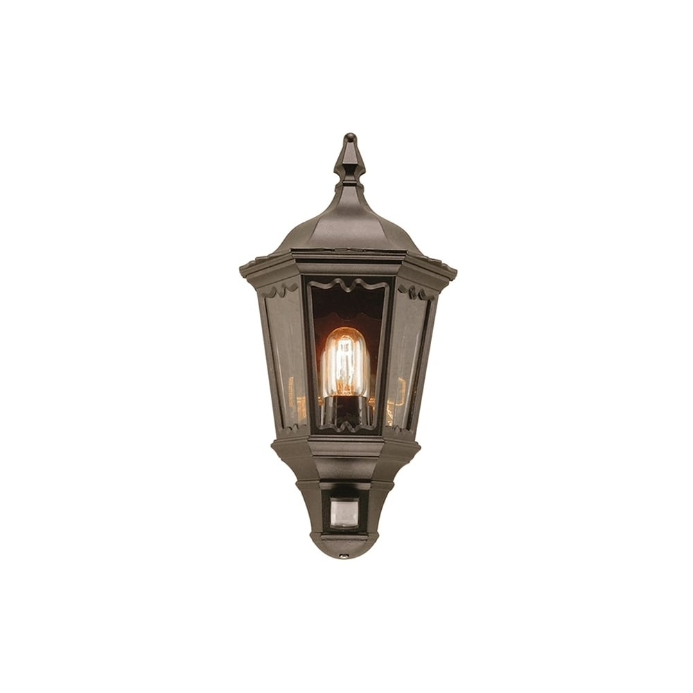 Well Known Outdoor Lanterns With Pir Pertaining To Elstead Medstead Outdoor Pir Half Wall Lantern In Black Finish Md (View 18 of 20)